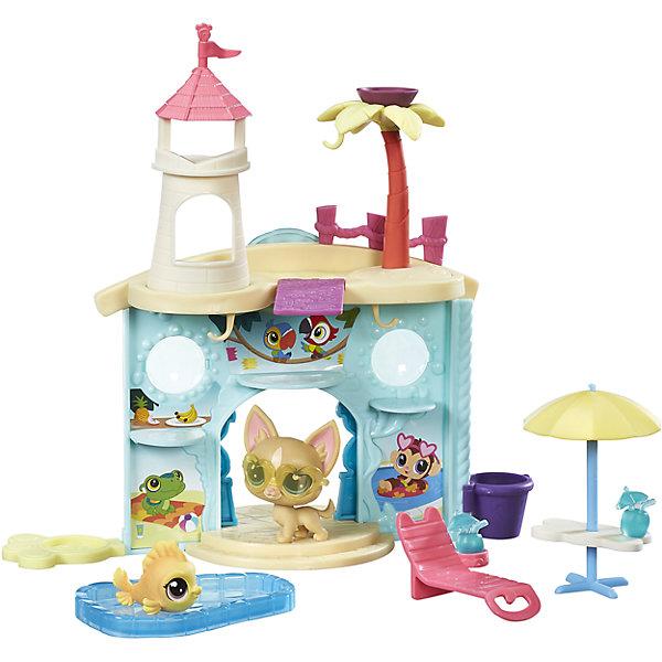 Набор Дисплей для питомцев, Littlest Pet Shop, B9344/C0042Фигурки из мультфильмов<br>Набор Дисплей для питомцев, Littlest Pet Shop, B9344/C0042<br><br>Характеристики:<br><br>- в набор входит: аквапарк-дисплей, шезлонг, столик с зонтиком, бассейн, 2 питомца<br>- состав: пластик<br>- для детей в возрасте: от 4 до 10 лет<br>- Страна производитель: Китай<br><br>Знаменитые питомцы Littlest Pet Shop (Литтлест Пэт Шоп) от известного американского бренда товаров для детей Hasbro (Хасбро) получили новый набор с аквапарком! Двухсторонний аквапарк несмотря на свою компактность вмещает все необходимое для отличной игры. Красивый вход украшен ступеням и рельефными декорациями стен, на крыше расположена башенка и пальма. <br><br>В самом аквапарке расположены места для питомцев, имеются изображения тропических животных и фруктов. На крыше расположена доска для прыжков в воду, в набор включен шезлонг, столик с зонтом от солнца, бассейн и коктейль. Главные отдыхающие в этом аквапарке – Чихуахуа в стильных очках (в каталоге питомцев №92) и золотая рыбка (в каталоге № 54). Проведите замечательный день в аквапарке Littlest Pet Shop (Литтлест Пэт Шоп). <br><br>Набор отлично подойдет как для игры дома, так и для игр в поездке. Все детали изготовлены из высококачественного пластика. Играя с этим набором ребенок сможет развивать социальные навыки, развивать воображение и творческие способности. <br><br>Набор Дисплей для питомцев, Littlest Pet Shop, B9344/C0042 можно купить в нашем интернет-магазине.<br><br>Ширина мм: 51<br>Глубина мм: 279<br>Высота мм: 203<br>Вес г: 373<br>Возраст от месяцев: 48<br>Возраст до месяцев: 120<br>Пол: Женский<br>Возраст: Детский<br>SKU: 5388369