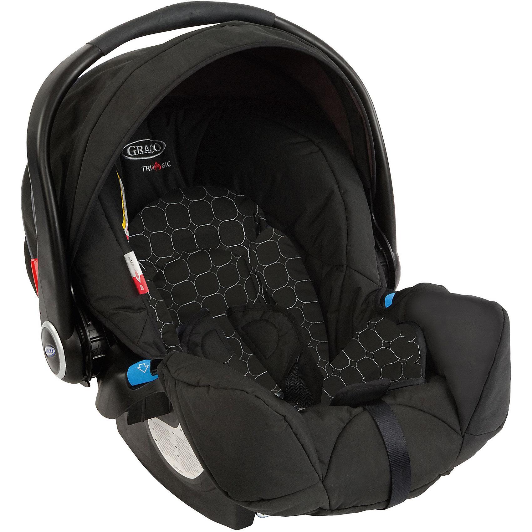 Автокресло Graco Logico S Noir 0-13 кг,Группа 0+ (До 13 кг)<br>Характеристики:<br><br>• группа: 0+<br>• вес ребенка: до 13 кг;<br>• возраст ребенка: от рождения до 12 месяцев;<br>• способ крепления: штатным ремнем безопасности автомобиля;<br>• способ установки: лицом против хода движения автомобиля;<br>• материал: пластик, полиэстер;<br>• размеры автокресла: 58x67x56 см;<br>• вес: 4,2 кг.<br><br>Автокресло Logico S Noir представляет собой автолюльку для путешествий с новорожденными детками в автомобиле. Автокресло оснащено ремнями безопасности с мягкими накладками. Имеется пластиковая ручка для переноски автокресла, положение регулируется. Защитный капор регулируется, его можно поднимать и опускать. Дополнительная система защиты от боковых ударов с двойной EPS системой представляет собой высокие защитные бортики внутри и пластиковые борты снаружи автокресла. Входящий в комплект чехол автокресла можно стирать при температуре 30 градусов.<br><br>Автокресло Logico S Noir 0-13 кг, Graco можно купить в нашем интернет-магазине.<br><br>Ширина мм: 490<br>Глубина мм: 490<br>Высота мм: 700<br>Вес г: 10500<br>Возраст от месяцев: 0<br>Возраст до месяцев: 12<br>Пол: Унисекс<br>Возраст: Детский<br>SKU: 5388607