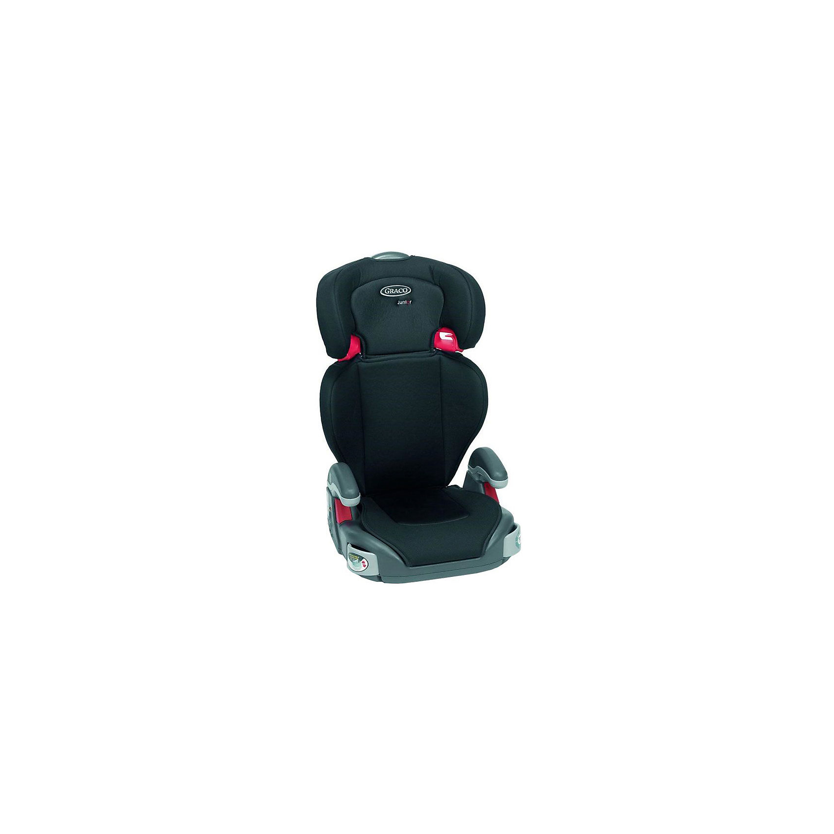 Бустер 2-в-1 Junior Maxi Sport Luxe 15-36 кг, Graco, черныйХарактеристики:<br><br>• группа: 2/3;<br>• вес ребенка: 15-36 кг;<br>• возраст ребенка: от 4 до 12 лет;<br>• способ крепления: штатным ремнем безопасности автомобиля;<br>• способ установки: лицом против хода движения автомобиля;<br>• регулируется высота подголовника: 5 положений;<br>• регулируется угол наклона спинки: 2 положения, сидя и полулежа;<br>• две выдвижные секции для различных аксессуаров;<br>• встроенные ремни безопасности отсутствуют, ребенка можно пристегнуть штатными ремнями безопасности автомобиля;<br>• функция бустера;<br>• материал: пластик, полиэстер;<br>• чехлы можно снять и постирать при температуре 30 градусов;<br>• размеры автокресла: 69/81x41х37 см;<br>• вес: 4,5 кг.<br><br>Автокресло 2в1 Junior Maxi Sport Luxe используется как стандартное автокресло со спинкой и подголовником и подлокотниками, а также, как бустер с подлокотниками и без спинки, для детей весовой категории 25-36 кг. Положение спинки и подголовника регулируется и настраивается с учетом возрастных изменений ребенка и его положения в дороге.  <br><br>Бустер 2-в-1 Junior Maxi Sport Luxe 15-36 кг, Graco, черный можно купить в нашем интернет-магазине.<br><br>Ширина мм: 430<br>Глубина мм: 235<br>Высота мм: 645<br>Вес г: 4400<br>Возраст от месяцев: 48<br>Возраст до месяцев: 144<br>Пол: Унисекс<br>Возраст: Детский<br>SKU: 5388608