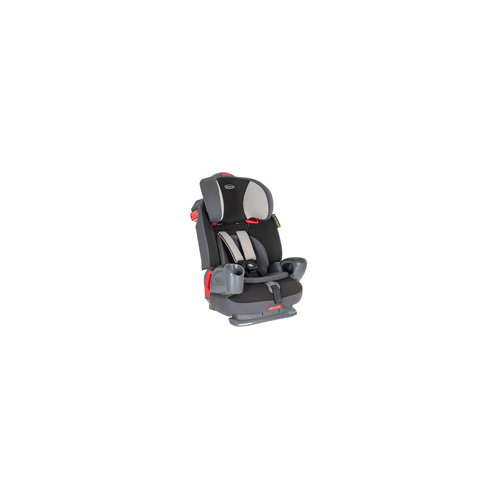 Автокресло Graco Nautilus Aluminium, 9-36кг, LATCH,Группа 1-2-3 (От 9 до 36 кг)<br>Характеристики:<br><br>• группа: 1/2/3;<br>• вес ребенка: 9-36 кг;<br>• возраст ребенка: от 3 до 12 лет;<br>• способ крепления: штатным ремнем безопасности автомобиля;<br>• способ установки: лицом по ходу движения автомобиля;<br>• функция бустера, вес ребенка до 40 кг;<br>• высота спинки регулируется в 3-х положениях;<br>• высота подголовника регулируется по высоте;<br>• подлокотники имеют нишу для телефона и подстаканник для бутылочки;<br>• материал: металл, пластик, полиэстер;<br>• размеры автокресла: 50x52x75 см;<br>• вес: 11,7 кг.<br><br>Автокресло Nautilus Aluminium представляет собой универсальное кресло 3в1 для путешествий с ребенком старше 3-х лет вплоть до достижения им 12-ти лет. Автокресло оснащено ремнями безопасности с мягкими накладками, ремни регулируются по длине и высоте. Спинка автокресла снимается, получается бустер для путешествия с ребенком весом от 25 кг. Высота подголовника и угол наклона спинки регулируются, ребенок может занять удобное положение для сна. Предусмотрена дополнительная защиты от боковых ударов. Чехол автокресла можно стирать при температуре 30 градусов.<br><br>Автокресло Nautilus Aluminium, 9-36кг, LATCH, Graco можно купить в нашем интернет-магазине.<br><br>Ширина мм: 520<br>Глубина мм: 500<br>Высота мм: 750<br>Вес г: 11000<br>Возраст от месяцев: 9<br>Возраст до месяцев: 144<br>Пол: Унисекс<br>Возраст: Детский<br>SKU: 5388609