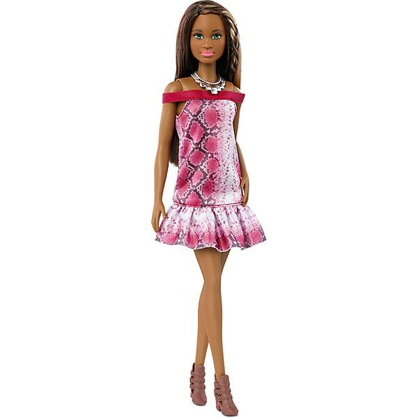Кукла из серии Игра с модой Pretty in Python, BarbieКуклы<br>Характеристики товара:<br><br>• комплектация: кукла, одежда<br>• материал: пластик, текстиль<br>• серия: Barbie игра с модой<br>• руки, ноги гнутся<br>• высота куклы: 29 см<br>• возраст: от трех лет<br>• размер упаковки: 33х12х5 см<br>• вес: 0,3 кг<br>• страна бренда: США<br><br>Невероятно модный образ изящной куклы порадует маленьких любительниц стильных и необычных нарядов. Стильную одежду дополняет обувь и аксессуары. Длинные волосы позволяют делать разнообразные прически! Барби из серии Игра с модой станет великолепным подарком для девочек, которые следят за модными тенденциями.<br><br>Такие куклы помогают развить у девочек вкус и чувство стиля, отработать сценарии поведения в обществе, развить воображение и мелкую моторику. Барби от бренда Mattel не перестает быть популярной! <br><br>Куклу из серии Игра с модой Pretty in Python, Barbie, от компании Mattel можно купить в нашем интернет-магазине.<br><br>Ширина мм: 115<br>Глубина мм: 55<br>Высота мм: 325<br>Вес г: 273<br>Возраст от месяцев: 36<br>Возраст до месяцев: 120<br>Пол: Женский<br>Возраст: Детский<br>SKU: 5389666
