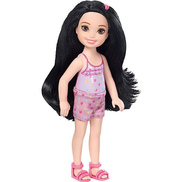 Кукла-Челси, BarbieBarbie<br>Характеристики товара:<br><br>• комплектация: 1 кукла, одежда, аксессуар<br>• материал: пластик, полимер, текстиль<br>• подвижные части тела<br>• высота куклы: 13,5 см<br>• длинные волосы<br>• возраст: от трех лет<br>• размер упаковки: 16х9х4 см<br>• вес: 0,3 кг<br>• страна бренда: США<br><br>Маленьких любительниц куклы Barbie наверняка порадует малышка Челси в новом образе. Она выглядит очаровательно в ярком наряде. Длинные волосы позволяют делать разнообразные прически! Кукла дополнена аксессуаром, чтобы игры с ней стали разнообразнее. Эта Челси станет великолепным подарком для девочек!<br><br>Игры с куклами помогают развить у девочек вкус и чувство стиля, отработать сценарии поведения в обществе, развить воображение и мелкую моторику. Такую куклу удобно брать с собой в поездки и на прогулки. Маленькая Челси от бренда Mattel не перестает быть популярной! <br><br>Куклу Челси, Barbie, от компании Mattel можно купить в нашем интернет-магазине.<br><br>Ширина мм: 90<br>Глубина мм: 40<br>Высота мм: 160<br>Вес г: 73<br>Возраст от месяцев: 36<br>Возраст до месяцев: 120<br>Пол: Женский<br>Возраст: Детский<br>SKU: 5389674