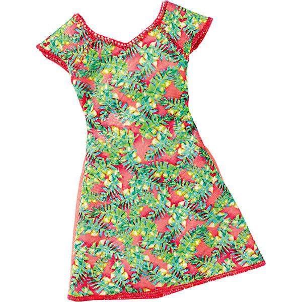 Универсальное платье для куклы (для всех типов фигур), BarbieОдежда для кукол<br>Характеристики товара:<br><br>• цвет: зеленый<br>• комплектация: 1 платье<br>• материал: текстиль<br>• ткань с принтом<br>• качественная обработка швов<br>• универсальное: для всех типов фигур<br>• возраст: от трех лет<br>• страна бренда: США<br><br>Это платье порадует маленьких любительниц кукол Barbie. Оно поможет создать новый образ своей кукле. Платье отлично сидит на разных модификациях Барби, оно прекрасно обработано! Такой наряд станет желанным подарком для девочек, которые следят за модными тенденциями.<br><br>Игры с куклами помогают развить у девочек вкус и чувство стиля, отработать сценарии поведения в обществе, развить воображение и мелкую моторику. Барби от бренда Mattel не перестает быть популярной! <br><br>Универсальное платье для куклы (для всех типов фигур), Barbie, от компании Mattel можно купить в нашем интернет-магазине.<br><br>Ширина мм: 155<br>Глубина мм: 83<br>Высота мм: 15<br>Вес г: 11<br>Возраст от месяцев: 36<br>Возраст до месяцев: 72<br>Пол: Женский<br>Возраст: Детский<br>SKU: 5389689