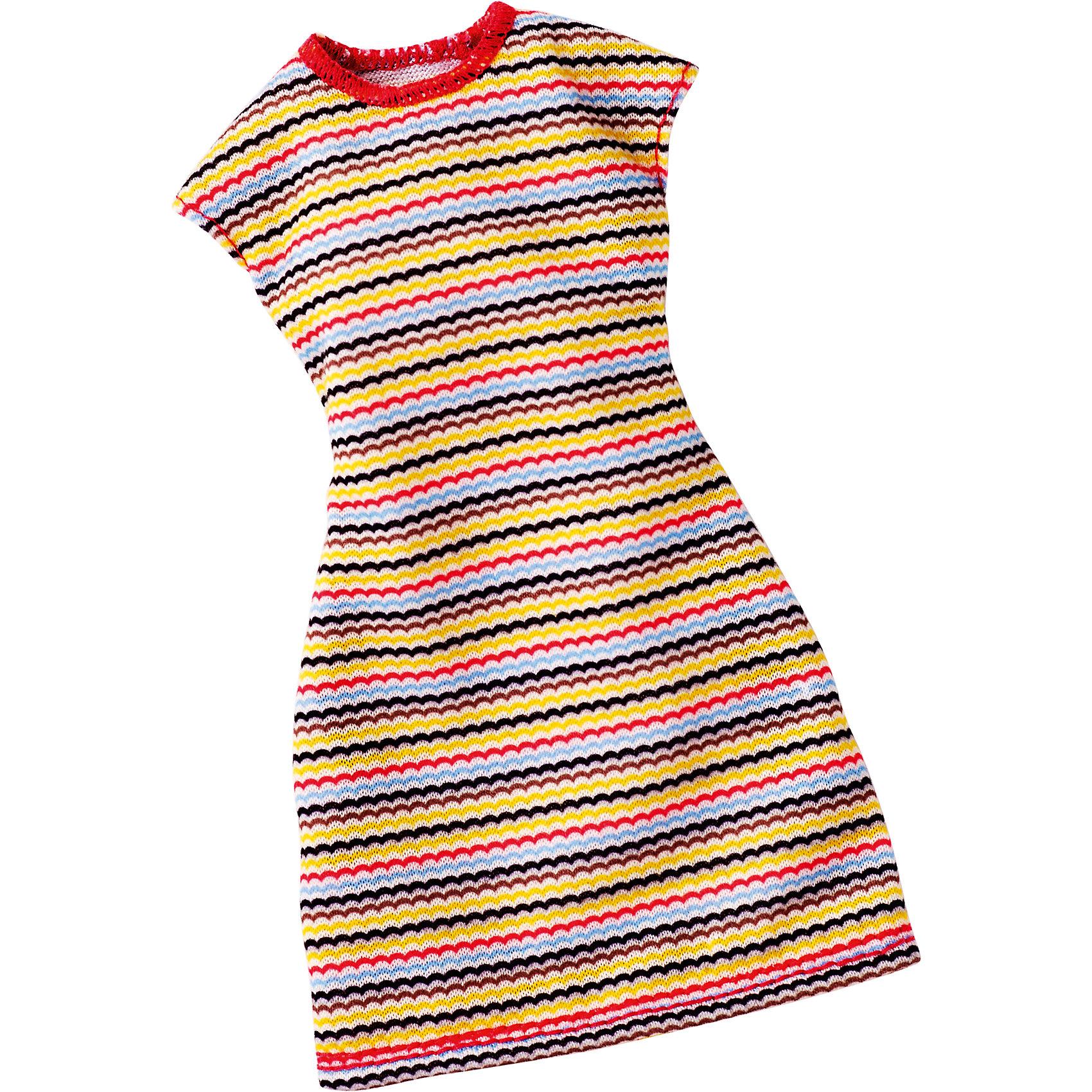 Универсальное платье для куклы (для всех типов фигур), BarbieХарактеристики товара:<br><br>• цвет: жёлтый<br>• комплектация: 1 платье<br>• материал: текстиль<br>• ткань с принтом<br>• качественная обработка швов<br>• универсальное: для всех типов фигур<br>• возраст: от трех лет<br>• страна бренда: США<br><br>Это платье порадует маленьких любительниц кукол Barbie. Оно поможет создать новый образ своей кукле. Платье отлично сидит на разных модификациях Барби, оно прекрасно обработано! Такой наряд станет желанным подарком для девочек, которые следят за модными тенденциями.<br><br>Игры с куклами помогают развить у девочек вкус и чувство стиля, отработать сценарии поведения в обществе, развить воображение и мелкую моторику. Барби от бренда Mattel не перестает быть популярной! <br><br>Универсальное платье для куклы (для всех типов фигур), Barbie, от компании Mattel можно купить в нашем интернет-магазине.<br><br>Ширина мм: 155<br>Глубина мм: 83<br>Высота мм: 15<br>Вес г: 11<br>Возраст от месяцев: 36<br>Возраст до месяцев: 72<br>Пол: Женский<br>Возраст: Детский<br>SKU: 5389691