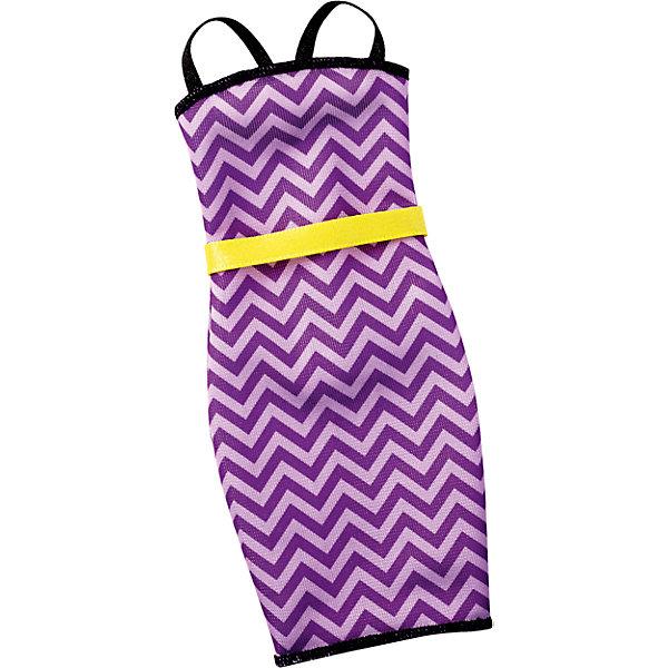 Универсальное платье для куклы (для всех типов фигур), BarbieОдежда для кукол<br>Характеристики товара:<br><br>• цвет: фиолетовый<br>• комплектация: 1 платье<br>• материал: текстиль<br>• ткань с принтом<br>• качественная обработка швов<br>• универсальное: для всех типов фигур<br>• возраст: от трех лет<br>• страна бренда: США<br><br>Это платье порадует маленьких любительниц кукол Barbie. Оно поможет создать новый образ своей кукле. Платье отлично сидит на разных модификациях Барби, оно прекрасно обработано! Такой наряд станет желанным подарком для девочек, которые следят за модными тенденциями.<br><br>Игры с куклами помогают развить у девочек вкус и чувство стиля, отработать сценарии поведения в обществе, развить воображение и мелкую моторику. Барби от бренда Mattel не перестает быть популярной! <br><br>Универсальное платье для куклы (для всех типов фигур), Barbie, от компании Mattel можно купить в нашем интернет-магазине.<br><br>Ширина мм: 263<br>Глубина мм: 78<br>Высота мм: 16<br>Вес г: 10<br>Возраст от месяцев: 36<br>Возраст до месяцев: 72<br>Пол: Женский<br>Возраст: Детский<br>SKU: 5389692