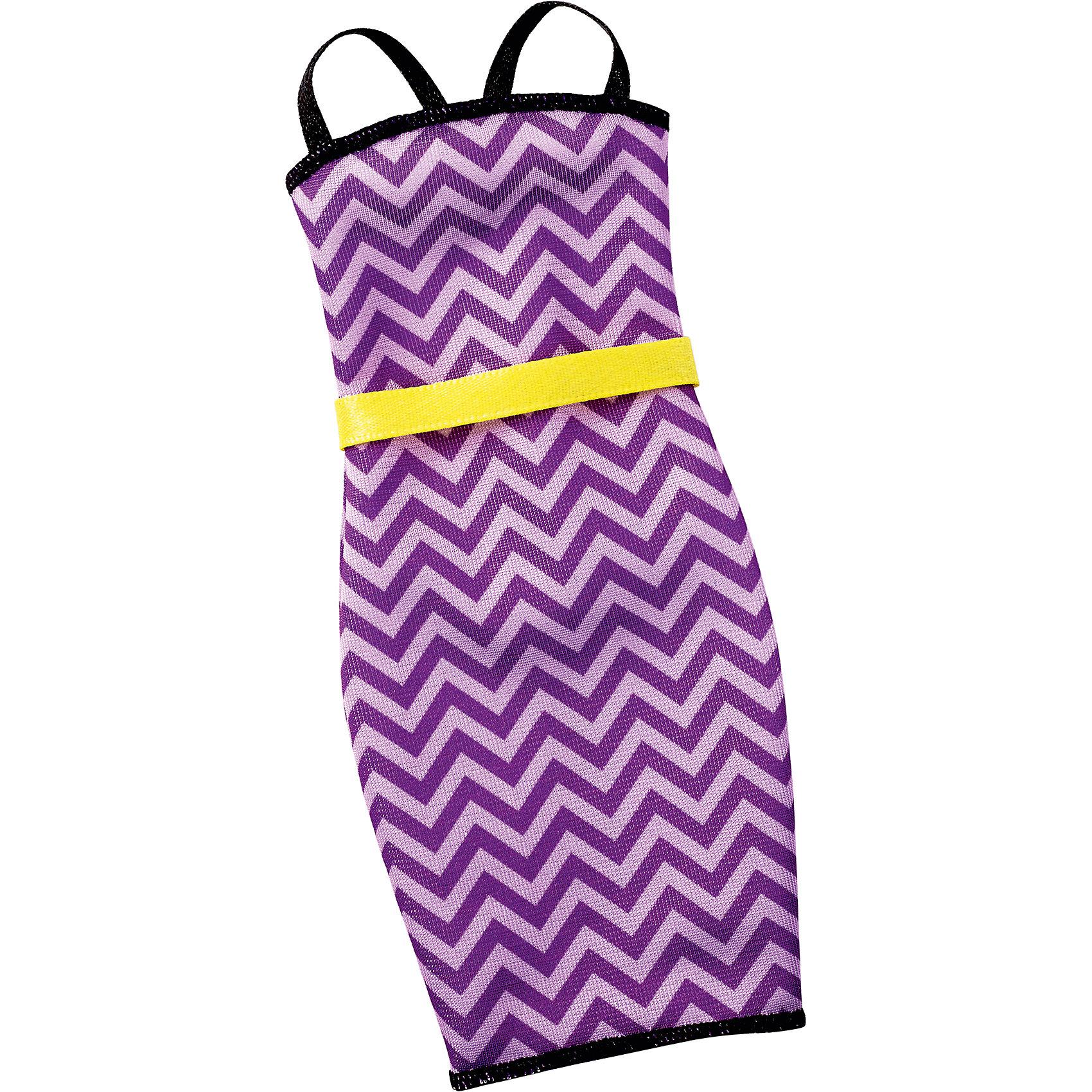 Универсальное платье для куклы (для всех типов фигур), BarbieBarbie<br>Характеристики товара:<br><br>• цвет: фиолетовый<br>• комплектация: 1 платье<br>• материал: текстиль<br>• ткань с принтом<br>• качественная обработка швов<br>• универсальное: для всех типов фигур<br>• возраст: от трех лет<br>• страна бренда: США<br><br>Это платье порадует маленьких любительниц кукол Barbie. Оно поможет создать новый образ своей кукле. Платье отлично сидит на разных модификациях Барби, оно прекрасно обработано! Такой наряд станет желанным подарком для девочек, которые следят за модными тенденциями.<br><br>Игры с куклами помогают развить у девочек вкус и чувство стиля, отработать сценарии поведения в обществе, развить воображение и мелкую моторику. Барби от бренда Mattel не перестает быть популярной! <br><br>Универсальное платье для куклы (для всех типов фигур), Barbie, от компании Mattel можно купить в нашем интернет-магазине.<br><br>Ширина мм: 263<br>Глубина мм: 78<br>Высота мм: 16<br>Вес г: 10<br>Возраст от месяцев: 36<br>Возраст до месяцев: 72<br>Пол: Женский<br>Возраст: Детский<br>SKU: 5389692