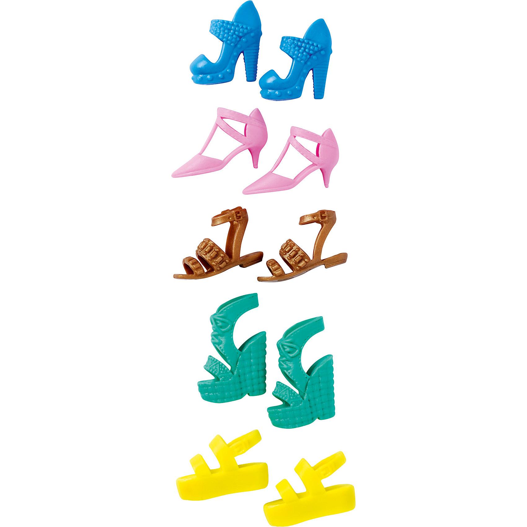 Набор обуви для Barbie<br><br>Ширина мм: 156<br>Глубина мм: 81<br>Высота мм: 25<br>Вес г: 26<br>Возраст от месяцев: 36<br>Возраст до месяцев: 72<br>Пол: Женский<br>Возраст: Детский<br>SKU: 5389697