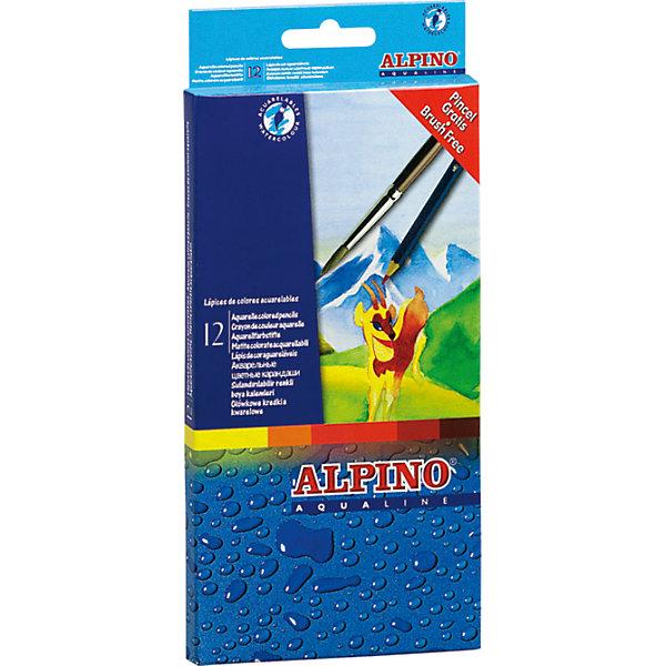 Цветные шестигранные акварельные карандаши AQUALINE, 12 цв. + кисточкаПисьменные принадлежности<br>Экологичная продукция европейского производства, изготовленная по наилучшим существующим технологиям с использованием только природных материалов<br>Сертификация по европейским стандартам качества и безопасности (CE, EN 71), а также декларирование соответствия по ТР ТС гарантируют безопасность применения акварельных карандашей, в том числе, при их интенсивном контакте с кожей и слизистой оболочкой детей<br>Не содержит синтетических добавок, компонентов молока, яиц, клейковины, орехов, бобов, латекса и других потенциально аллергенных веществ (Non-Allergic)<br>Параметры карандашей: шестигранная форма сечения, толщина корпуса 6,9 мм, диаметр грифеля 3,3 мм<br>Грифель совмещает свойства цветных карандашей и акварельных красок, даёт чистые, очень яркие и насыщенные цвета. При размывании водой с помощью влажной кисточки карандашный рисунок превращается в акварельный<br>Легко отстирываются с детской одежды и других обычных тканей<br>Поломку грифеля предупреждает специальная технология его вклеивания<br>Высшего качества древесина (кедр) обеспечивает исключительно лёгкое затачивание карандашей при помощи стандартных точилок<br>В наборе имеется кисточка<br>Упаковка с европетлей<br>Производитель: ALPINO (Испания)<br><br>Ширина мм: 100<br>Глубина мм: 16<br>Высота мм: 185<br>Вес г: 83<br>Возраст от месяцев: 36<br>Возраст до месяцев: 120<br>Пол: Унисекс<br>Возраст: Детский<br>SKU: 5389702