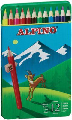 ALPINO Цветные шестигранные карандаши, 12 цв.