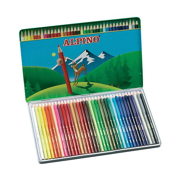 Цветные шестигранные карандаши, 36 цв.Письменные принадлежности<br>Изготовлены из натуральных материалов по европейским стандартам качества (CE).<br>Набор комплектован по рекомендациям опытных педагогов для использования при занятиях по школьной программе.<br>Параметры карандашей - диаметр корпуса: 6,9 мм, диаметр грифеля: 3 мм.<br>Грифель даёт чистые, яркие и насыщенные цвета.<br>Легко отстирывается с большинства обычных тканей.<br>Поломку грифеля предупреждает специальная технология его вклеивания.<br>Качественная древесина обеспечивает лёгкое затачивание при помощи стандартных точилок.<br>В подарочном металлическом футляре<br>Производитель: ALPINO (Испания)<br><br>Ширина мм: 298<br>Глубина мм: 13<br>Высота мм: 286<br>Вес г: 434<br>Возраст от месяцев: 36<br>Возраст до месяцев: 120<br>Пол: Унисекс<br>Возраст: Детский<br>SKU: 5389710