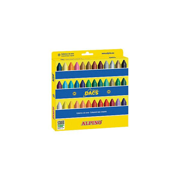 Восковые карандаши Ceras DACS, 36 цв.Масляные и восковые мелки<br>Изготовлены по европейским стандартам качества (CE, EN 71, ISO 14021).<br>Экологически чистый материал без аллергических компонентов на основе натурального воска (Non-Allergic).<br>Особая кремовая мягкость, позволяющая смешивать цвета и получать новые оттенки. Утолщённое сечение.<br>Чистые, яркие и насыщенные цвета. Отсутствие слоистости и равномерное окрашивание.<br>Рекомендуются опытными педагогами для развития навыков изобразительного творчества. Идеально подходят для начертания хорошо видимых жирных линий и при закрашивании больших поверхностей. Замечательно рисуют на бумаге, картоне, ватмане, деревянных, глиняных и других шероховатых поверхностях.<br>Низкая утомляемость рук.<br>Водоустойчивые и устойчивые к ломке, не пачкают руки, стираются обычным ластиком.<br>Очень легко затачиваются.<br>Смываются с кожи без применения мыла, легко отстирываются с большинства обычных тканей.<br>Упаковка с европетлей<br>Производитель: ALPINO (Испания)<br><br>Ширина мм: 205<br>Глубина мм: 15<br>Высота мм: 215<br>Вес г: 227<br>Возраст от месяцев: 36<br>Возраст до месяцев: 120<br>Пол: Унисекс<br>Возраст: Детский<br>SKU: 5389740