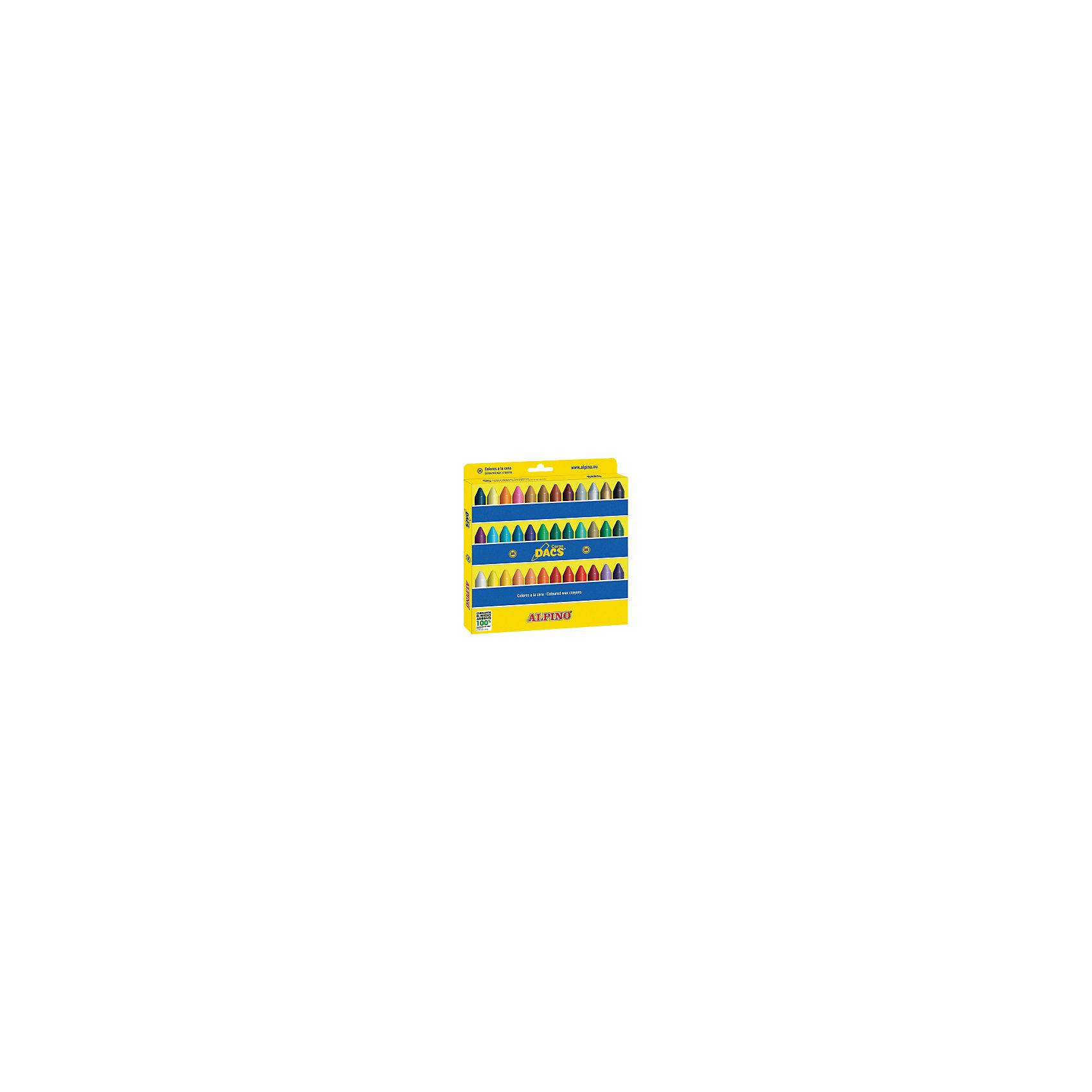 Восковые карандаши Ceras DACS, 36 цв.Изготовлены по европейским стандартам качества (CE, EN 71, ISO 14021).<br>Экологически чистый материал без аллергических компонентов на основе натурального воска (Non-Allergic).<br>Особая кремовая мягкость, позволяющая смешивать цвета и получать новые оттенки. Утолщённое сечение.<br>Чистые, яркие и насыщенные цвета. Отсутствие слоистости и равномерное окрашивание.<br>Рекомендуются опытными педагогами для развития навыков изобразительного творчества. Идеально подходят для начертания хорошо видимых жирных линий и при закрашивании больших поверхностей. Замечательно рисуют на бумаге, картоне, ватмане, деревянных, глиняных и других шероховатых поверхностях.<br>Низкая утомляемость рук.<br>Водоустойчивые и устойчивые к ломке, не пачкают руки, стираются обычным ластиком.<br>Очень легко затачиваются.<br>Смываются с кожи без применения мыла, легко отстирываются с большинства обычных тканей.<br>Упаковка с европетлей<br>Производитель: ALPINO (Испания)<br><br>Ширина мм: 205<br>Глубина мм: 15<br>Высота мм: 215<br>Вес г: 227<br>Возраст от месяцев: 36<br>Возраст до месяцев: 120<br>Пол: Унисекс<br>Возраст: Детский<br>SKU: 5389740