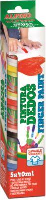 ALPINO Пальчиковые краски 5 * 40 мл, 5 цв.