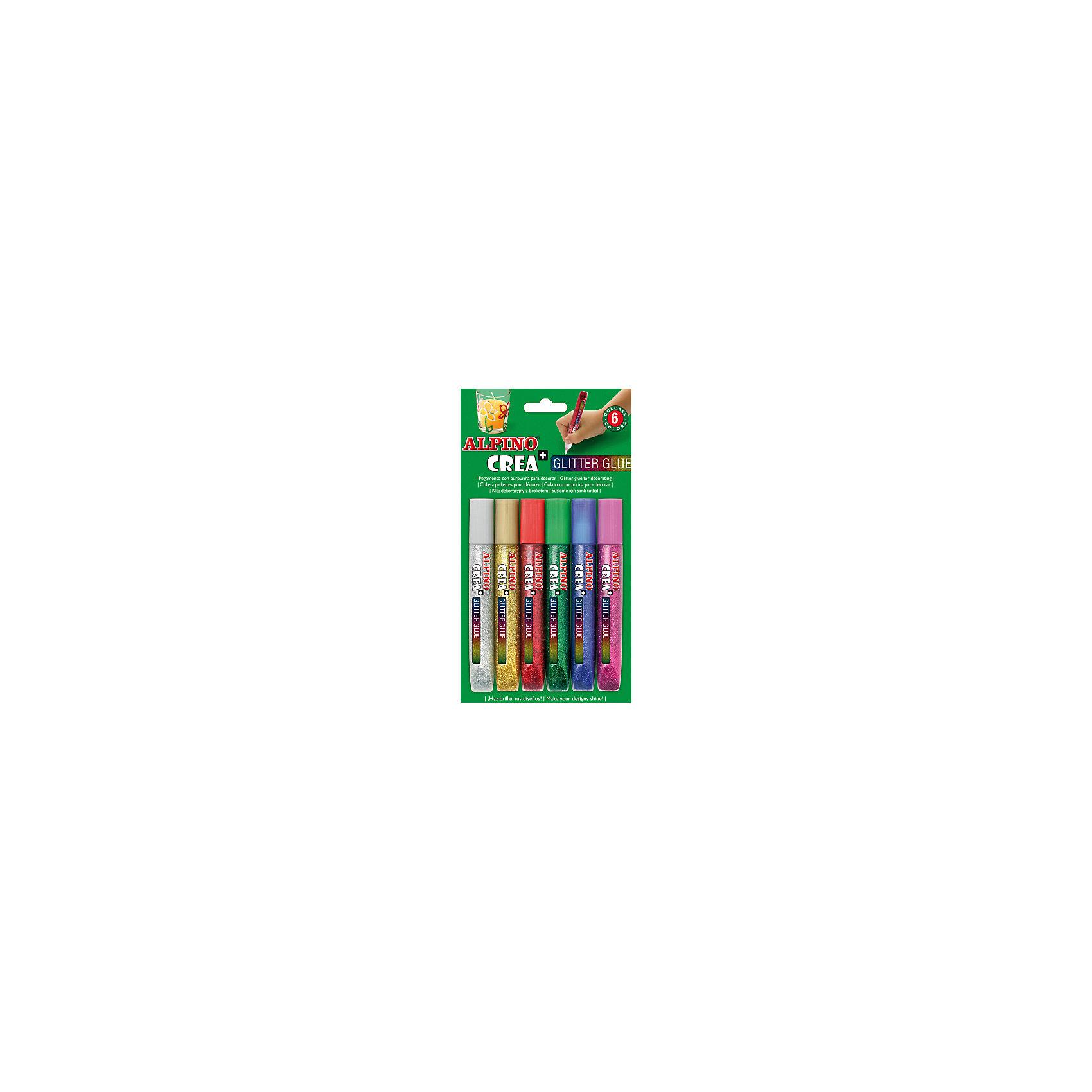 Гелевые карандаши CREA Classic (гель-краски с блестками для декорирования), 6 цв.Письменные принадлежности<br>Экологичная продукция европейского производства, изготовленная по наилучшим существующим технологиям<br>Сертификация по европейским стандартам качества и безопасности (CE, EN 71), декларирование соответствия по ТР ТС для использования детьми от 6 лет<br>Гелевые карандаши Glitter Glue с блестками и неоновым эффектом обладают уникальными свойствами и идеально подходят для многих видов хобби и творчества Произведены с использованием натуральных материалов и природных пигментов, не содержат вредных или потенциально аллергенных веществ (Non-Allergic) Безопасны для чувствительности детской кожи, смываются с кожи с применением мыла Чистые, яркие, насыщенные цвета, превосходная светостойкость<br>Рекомендуется педагогами для развития у детей и подростков цветоощущений, абстрактного мышления, эстетического вкуса, самостоятельности, уверенности и позитивной самооценки.<br>Гелевые карандаши имеют одинаковую функциональность при любом наклоне к пишущей поверхности, удобны как при нанесении контуров рисунков, так и при их раскрашивании<br>Предназначены для декорирования различных материалов восхитительными искрящимися или неоновыми эффектами К изделиям можно прикасаться уже через 30-40 минут после нанесения. Не стекает и не образует нитей. Текстильные изделия, украшенные с помощью ALPINO Glitter Glue, можно стирать при 30 С°.<br>Упаковка с европетлей<br>Производитель: ALPINO (Испания)<br><br>Ширина мм: 117<br>Глубина мм: 15<br>Высота мм: 190<br>Вес г: 104<br>Возраст от месяцев: 36<br>Возраст до месяцев: 120<br>Пол: Унисекс<br>Возраст: Детский<br>SKU: 5389747