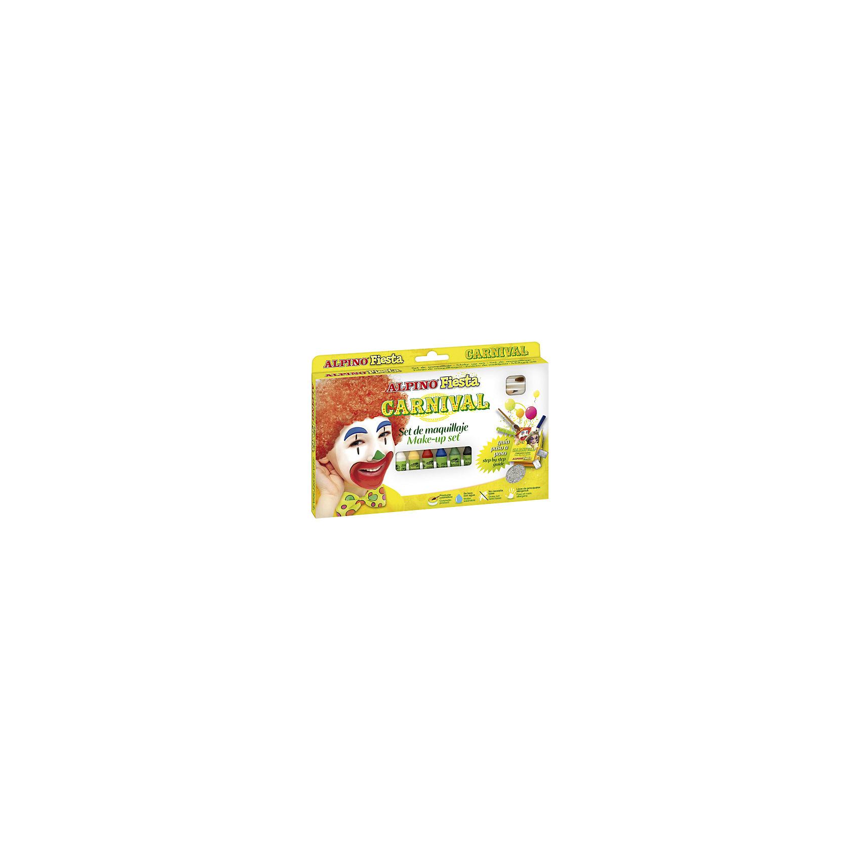 Детский аквагрим Карнавал (макияжные карандаши), 6*5 гр, 6 цв.+комплектКосметика, грим и парфюмерия<br>Экологичная детская декоративная косметика европейского производства, изготовленная по наилучшим существующим технологиям на основе растительных ингредиентов и воды<br>Не содержит компонентов молока, яиц, клейковины, орехов, бобов, латекса и других потенциально аллергенных ингредиентов (Non-Allergic)<br>Разрешена для применения детьми от 3 лет по европейским стандартам качества и безопасности, а также нормам ТР ТС 009/2011 «О безопасности парфюмерно-косметической продукции» (включена в перечень детских товаров, допущенных к обращению во всех странах Таможенного союза)<br>Рекомендуются педагогами и медицинскими специалистами для эффективного развития детей в ходе игровых форм обучения и воспитания. Считается лучшей продукцией для художественного самодеятельного творчества, детских праздников и спортивных соревнований<br>Состав набора: макияжные карандаши (6 x 5 гр, 6 цв.), косметический карандаш, пакетики с блёстками, переводные картинки, кисточка<br>К набору прилагается инструкция, в которой на универсальном языке картинок раскрывается секрет создания замечательных праздничных, сценических и карнавальных образов<br>Макияжные карандаши имеют высокую кроющую способность, их различные цвета могут смешиваться, позволяя получать новые цвета и оттенки. Нанесённый макияж не пачкается и имеет глянцевый тон. При увлажнении грима водой с помощью кисти цвета приобретают матовые оттенки. Косметический карандаш предназначен для нанесения контуров макияжного рисунка, выделения или изменения форм лица, а блёстки придают макияжу яркость и искрящийся эффект. Набор является идеальным решением для художественного самодеятельного творчества, детских праздников, дискотек и других культурно-развлекательных и спортивно–зрелищных молодежных мероприятий<br>Предварительное нанесение пасты-грунта не требуется, продукция безопасна при интенсивном контакте с кожей в течение длительного времени