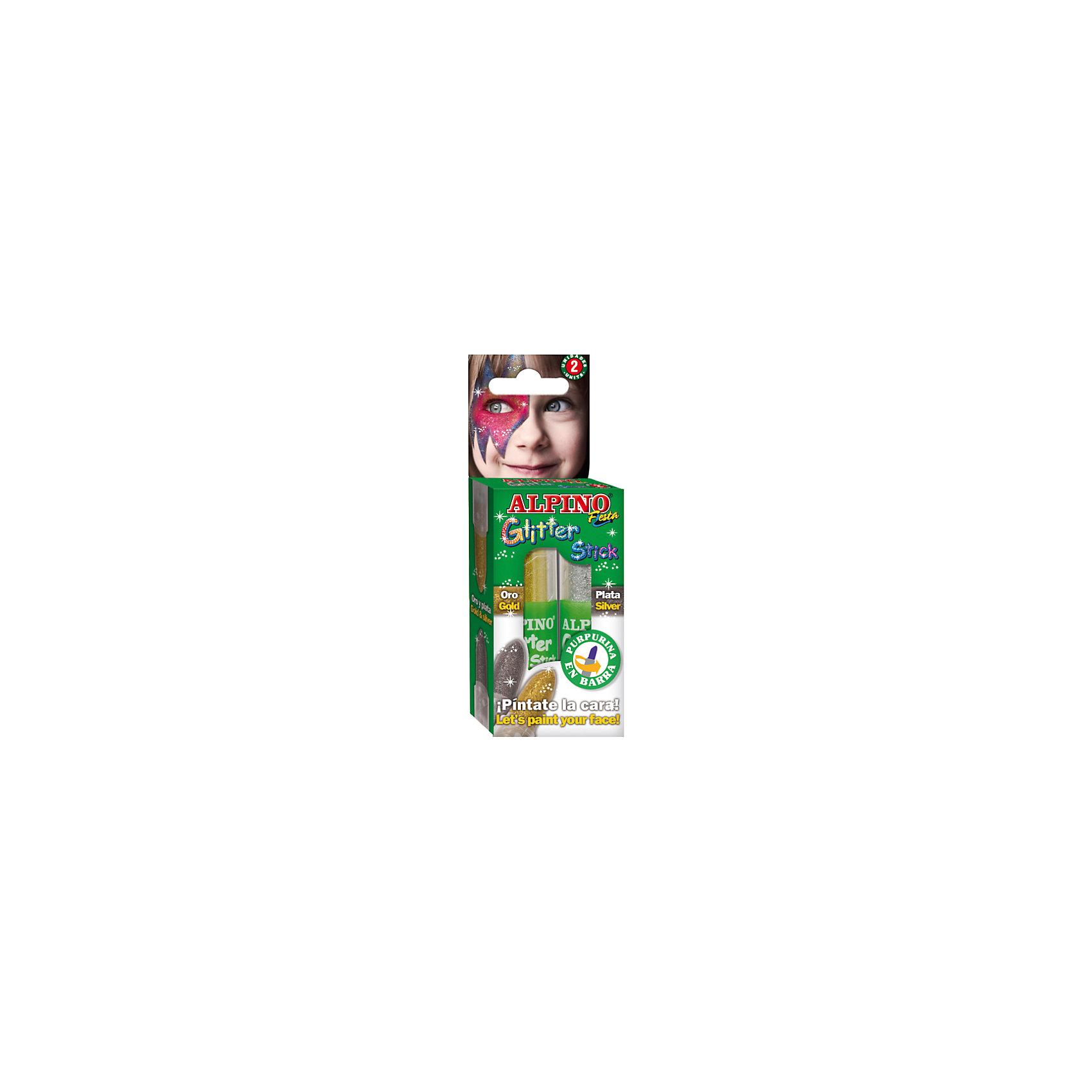 Детский аквагрим Glitter Stick (макияжные карандаши с блестками), 2*4 гр, 2 цв. (золотой/серебряный)Косметика, грим и парфюмерия<br>Экологичная детская декоративная косметика европейского производства, изготовленная по наилучшим существующим технологиям на основе растительных ингредиентов и воды<br>Не содержит компонентов молока, яиц, клейковины, орехов, бобов, латекса и других потенциально аллергенных ингредиентов (Non-Allergic)<br>Разрешена для применения детьми от 3 лет по европейским стандартам качества и безопасности, а также нормам ТР ТС 009/2011 «О безопасности парфюмерно-косметической продукции» (включена в перечень детских товаров, допущенных к обращению во всех странах Таможенного союза)<br>Рекомендуется педагогами и медицинскими специалистами для эффективного развития детей в ходе игровых форм обучения и воспитания. Считается лучшей продукцией для художественного самодеятельного творчества, детских праздников, дискотек и других культурно-развлекательных и спортивно–зрелищных молодежных мероприятий<br>Состав набора: макияжные карандаши с блёстками в тюбике (2 x 4 гр, 2 цв.)<br>Макияжные карандаши с блёстками имеют высокую кроющую способность и представлены в наборе золотым и серебряным цветами. Нанесённый макияж не пачкается и имеет глянцевый тон, пластиковый тюбик позволяет хранить и переносить карандаши вне упаковки, например, в карманах, пеналах, портфеле или ранце. Набор является идеальным решением для создания нужного образа на празднике или для дружной и выразительной поддержки любимой команды на спортивных, музыкальных, художественных и иных состязаниях и конкурсах<br>Предварительное нанесение пасты-грунта не требуется, продукция безопасна при интенсивном контакте с кожей в течение длительного времени (не менее 24 часов)<br>Легко смывается с кожи, не имеет запаха, не красится, не оставляет жирных пятен, отстирывается с детской одежды и других тканей в режиме обычной стирки<br>Упаковка с европетлей<br>Производитель: ALPINO (Испания)<br><br>Ширина мм: