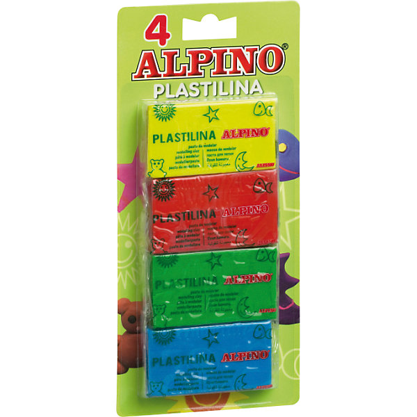 Набор пластилина, 4 * 50 гр = 200 гр, 4 цв.