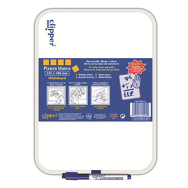 Маркерная доска, цвет белый, 25.5 * 18 см, 1 шт + маркерКоврики и доски для рисования<br>Комплект: доска ,маркер и губка в колпачке<br>Изготовлена из нетоксичных материалов, основа ПВХ<br>Предназначена для ежедневных записей<br>Упаковка с европетлей<br>Производитель: ALPINO (Испания)<br><br>Ширина мм: 185<br>Глубина мм: 10<br>Высота мм: 265<br>Вес г: 135<br>Возраст от месяцев: 36<br>Возраст до месяцев: 120<br>Пол: Унисекс<br>Возраст: Детский<br>SKU: 5389787