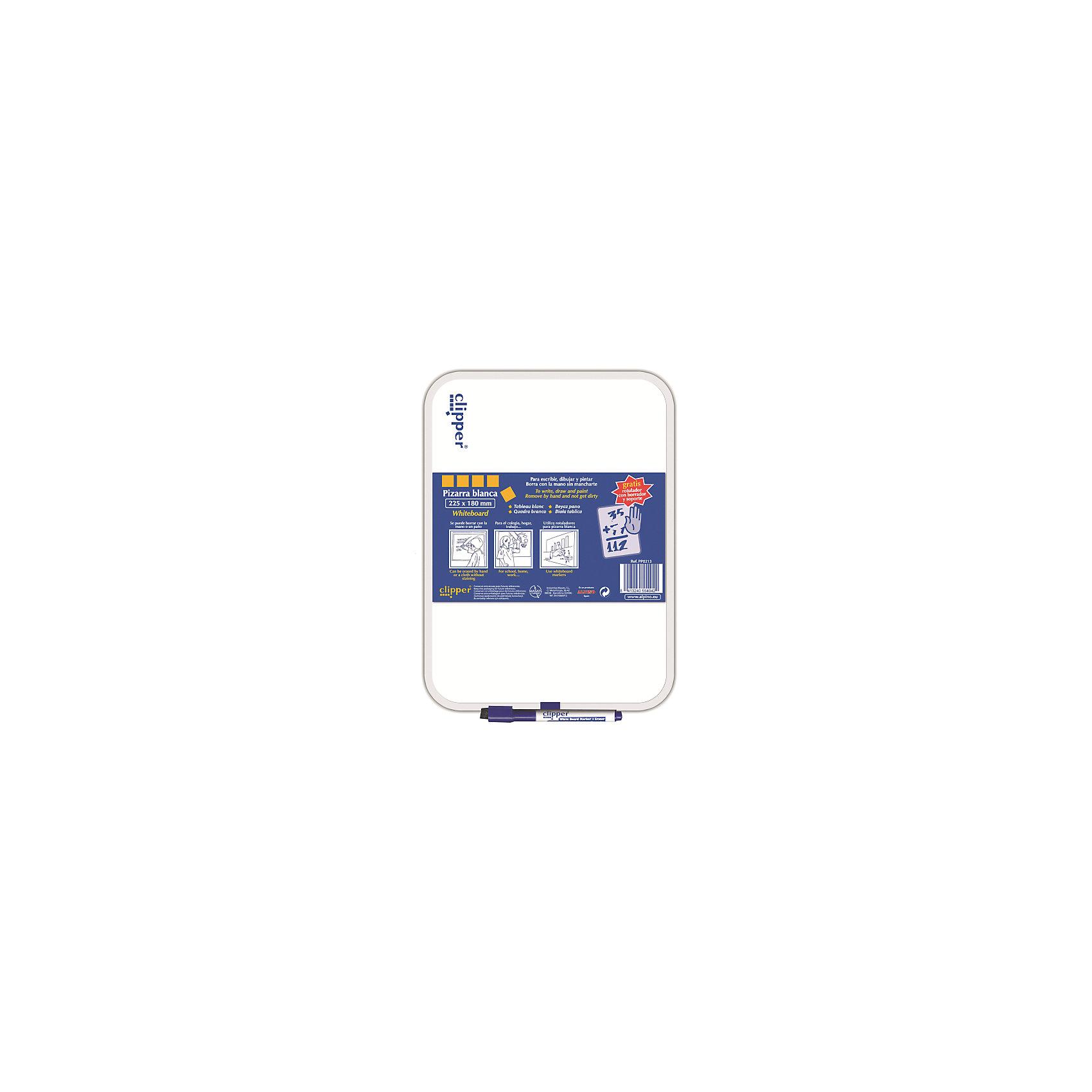 Маркерная доска, цвет белый, 25.5 * 18 см, 1 шт + маркерКомплект: доска ,маркер и губка в колпачке<br>Изготовлена из нетоксичных материалов, основа ПВХ<br>Предназначена для ежедневных записей<br>Упаковка с европетлей<br>Производитель: ALPINO (Испания)<br><br>Ширина мм: 185<br>Глубина мм: 10<br>Высота мм: 265<br>Вес г: 135<br>Возраст от месяцев: 36<br>Возраст до месяцев: 120<br>Пол: Унисекс<br>Возраст: Детский<br>SKU: 5389787