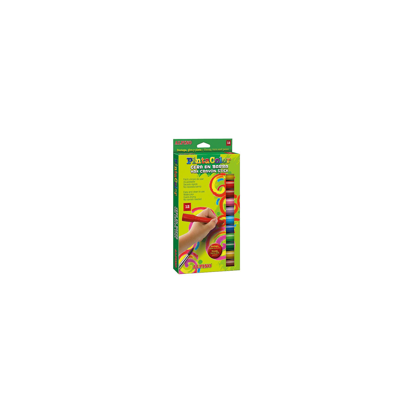 Восковые акварельные карандаши PINTACOLOR в пластиковом корпусе, 12 цв.Рисование<br>Изготовлены по европейским стандартам качества (CE, EN 71, ISO 14021).<br>Экологически чистый материал без аллергических компонентов на основе натурального воска (Non-Allergic).<br>Повышенная мягкость, большой ресурс использования.<br>Чистые, яркие и насыщенные цвета. Отсутствие слоистости и равномерное окрашивание. Совмещают свойства восковых карандашей и акварельных красок. При размывании водой карандашный рисунок превращается в акварельный с эффектом шёлкового перелива цветов.<br>Рекомендуются опытными педагогами для развития навыков изобразительного творчества. Идеально подходят для начертания хорошо видимых линий и при закрашивании больших поверхностей. Замечательно рисуют на бумаге, картоне, ватмане, деревянных, глиняных и других шероховатых поверхностях.<br>Антискользящий пластиковый корпус с выдвижным стержнем. Привлекательный внешний вид.<br>Водоустойчивые и устойчивые к ломке, не пачкают руки, стираются обычным ластиком.<br>Очень легко затачиваются.<br>Смываются с кожи без применения мыла, легко отстирываются с большинства обычных тканей.<br>Упаковка с европетлей<br>Производитель: ALPINO (Испания)<br><br>Ширина мм: 150<br>Глубина мм: 20<br>Высота мм: 295<br>Вес г: 260<br>Возраст от месяцев: 36<br>Возраст до месяцев: 120<br>Пол: Унисекс<br>Возраст: Детский<br>SKU: 5389793