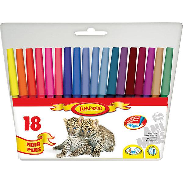 Фломастеры Хищники 18 цветовФломастеры<br>Фломастеры Хищники 18 цветов, Limpopo (Лимпопо)<br><br>Характеристики:<br><br>• безопасные чернила<br>• яркие цвета<br>• вентилируемый колпачок<br>• привлекательный дизайн упаковки для любителей животных<br>• в комплекте: 18 фломастеров<br>• размер упаковки: 16х17х1 см<br>• вес: 85 грамм<br><br>Каждый ребенок любит рисовать фломастерами, ведь они очень яркие и удобные. Набор фломастеров Хищники создан специально для поклонников животных. В комплект входят 18 фломастеров ярких цветов. Чернила экологические и безопасные для ребенка. Вентилируемый колпачок препятствует быстрому высыханию. С этим набором у малыша получатся самые красивые рисунки!<br><br>Фломастеры Хищники 18 цветов, Limpopo (Лимпопо) вы можете купить в нашем интернет-магазине.<br><br>Ширина мм: 170<br>Глубина мм: 10<br>Высота мм: 160<br>Вес г: 85<br>Возраст от месяцев: 48<br>Возраст до месяцев: 144<br>Пол: Унисекс<br>Возраст: Детский<br>SKU: 5390291