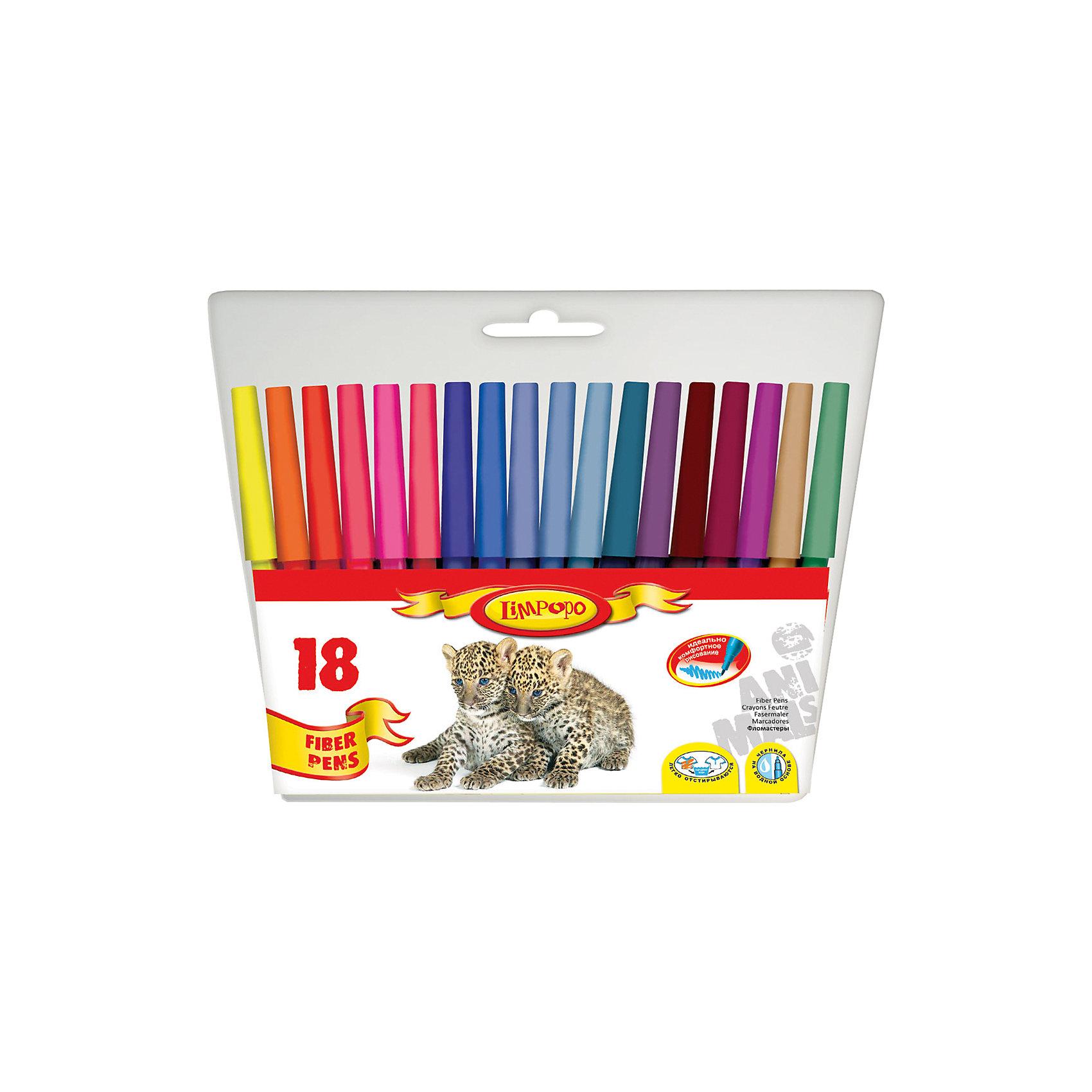 Фломастеры Хищники 18 цветовПисьменные принадлежности<br>Фломастеры Хищники 18 цветов, Limpopo (Лимпопо)<br><br>Характеристики:<br><br>• безопасные чернила<br>• яркие цвета<br>• вентилируемый колпачок<br>• привлекательный дизайн упаковки для любителей животных<br>• в комплекте: 18 фломастеров<br>• размер упаковки: 16х17х1 см<br>• вес: 85 грамм<br><br>Каждый ребенок любит рисовать фломастерами, ведь они очень яркие и удобные. Набор фломастеров Хищники создан специально для поклонников животных. В комплект входят 18 фломастеров ярких цветов. Чернила экологические и безопасные для ребенка. Вентилируемый колпачок препятствует быстрому высыханию. С этим набором у малыша получатся самые красивые рисунки!<br><br>Фломастеры Хищники 18 цветов, Limpopo (Лимпопо) вы можете купить в нашем интернет-магазине.<br><br>Ширина мм: 170<br>Глубина мм: 10<br>Высота мм: 160<br>Вес г: 85<br>Возраст от месяцев: 48<br>Возраст до месяцев: 144<br>Пол: Унисекс<br>Возраст: Детский<br>SKU: 5390291