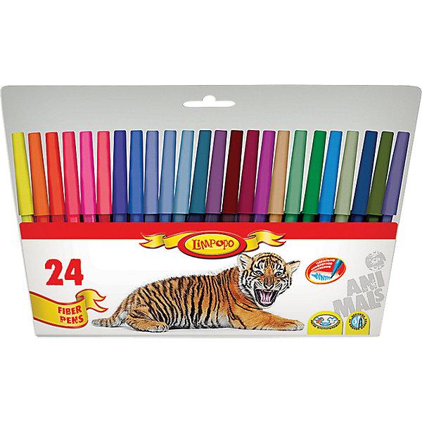 Фломастеры Хищники 24 цветаФломастеры<br>Фломастеры Хищники 24 цвета, Limpopo (Лимпопо)<br><br>Характеристики:<br><br>• безопасные чернила<br>• яркие цвета<br>• вентилируемый колпачок<br>• привлекательный дизайн упаковки для любителей животных<br>• в комплекте: 24 фломастера<br>• размер упаковки: 15х1х23 см<br>• вес: 112 грамм<br><br>Каждый ребенок любит рисовать фломастерами, ведь они очень яркие и удобные. Набор фломастеров Хищники создан специально для поклонников животных. В комплект входят 24 фломастера ярких цветов. Чернила экологические и безопасные для ребенка. Вентилируемый колпачок препятствует быстрому высыханию. С этим набором у малыша получатся самые красивые рисунки!<br><br>Фломастеры Хищники 24 цвета, Limpopo (Лимпопо) вы можете купить в нашем интернет-магазине.<br>Ширина мм: 230; Глубина мм: 10; Высота мм: 150; Вес г: 112; Возраст от месяцев: 48; Возраст до месяцев: 144; Пол: Унисекс; Возраст: Детский; SKU: 5390292;