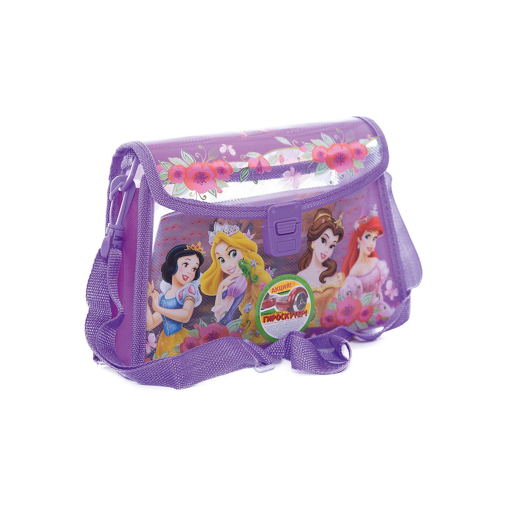 Подарочный набор Сумочка, Принцессы ДиснейНабор для творчества Модная сумочка - замечательный аксессуар для маленьких девочек в стиле Принцессы Дисней Внутри набора - полный комплект инструментов для творчества, а также раскраски и наклейки. Состав: 24 фломастера, 12 мелков, книжка-раскраска.<br><br>Ширина мм: 260<br>Глубина мм: 70<br>Высота мм: 170<br>Вес г: 304<br>Возраст от месяцев: 48<br>Возраст до месяцев: 144<br>Пол: Женский<br>Возраст: Детский<br>SKU: 5390299