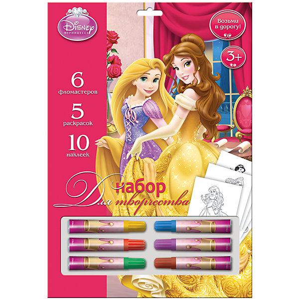 Набор для рисования Принцессы ДиснейНаборы для раскрашивания<br>Набор для рисования Принцессы Дисней, Limpopo (Лимпопо)<br><br>Характеристики:<br><br>• раскраски с персонажами мультфильмов Дисней<br>• яркие цвета<br>• в комплекте: 5 раскрасок, фломастеры (6 шт.), 10 наклеек<br>• размер упаковки: 25х2х33 см<br>• вес: 170 грамм<br><br>Набор для рисования Принцессы Дисней порадует юную художницу. В него входят фломастеры, несколько раскрасок с изображением любимых героев мультфильмов и наклейки. Девочка сможет оживить картинку яркими цветами и дополнить ее наклейками. С таким набором проявить фантазию очень просто!<br><br>Набор для рисования Принцессы Дисней, Limpopo (Лимпопо) вы можете купить в нашем интернет-магазине.<br>Ширина мм: 330; Глубина мм: 20; Высота мм: 250; Вес г: 170; Возраст от месяцев: 48; Возраст до месяцев: 144; Пол: Женский; Возраст: Детский; SKU: 5390303;