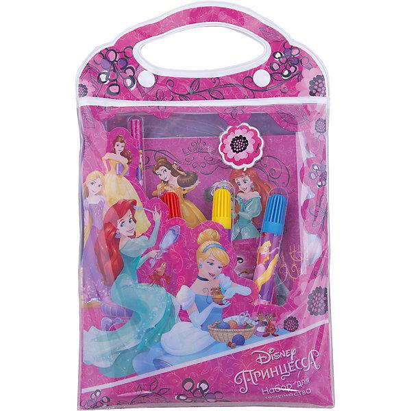Канцелярский набор Принцессы Дисней 9 предметовПринцессы Дисней<br>Канцелярский набор Принцессы Дисней 9 предметов, Limpopo (Лимпопо)<br><br>Характеристики:<br><br>• яркая упаковка с ручками<br>• 10 картинок с персонажами мультфильма<br>• в комплекте: 3 фломастера, карандаш, ластик, 3 листа наклеек, блокнот-раскраска( 10 листов)<br>• размер упаковки: 17,5х1,5х27,5 см<br>• вес: 111 грамм<br><br>Если ваш ребенок увлекается рисованием, то ему обязательно пригодится набор Принцессы Дисней. В него входят фломастеры, карандаш, ластик, наклейки и 10 листов с картинками, которые необходимо раскрасить. На картинках изображены персонажи мультфильмов в черно-белом варианте. Раскрасьте их - и они словно оживут! Ребенок сможет проявить свою фантазию и раскрасить картинки по своему усмотрению, а затем дополнить их наклейками. Все предметы находятся в удобной упаковке с ручками, оформленной изображением из мультфильма.<br><br>Канцелярский набор Принцессы Дисней 9 предметов, Limpopo (Лимпопо) можно купить в нашем интернет-магазине.<br>Ширина мм: 275; Глубина мм: 15; Высота мм: 175; Вес г: 111; Возраст от месяцев: 48; Возраст до месяцев: 144; Пол: Женский; Возраст: Детский; SKU: 5390305;