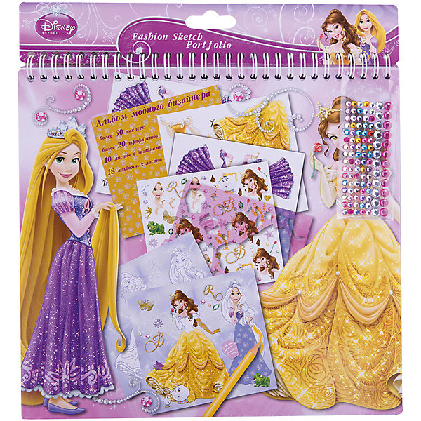 Альбом для творчества А4, Принцессы ДиснейПринцессы Дисней<br>Альбом для творчества А4, Принцессы Дисней, Limpopo (Лимпопо)<br><br>Характеристики:<br><br>• девочка сможет создать красивые образы для принцесс Диснея<br>• множество вариантов для творчества<br>• привлекательный дизайн<br>• количество листов: 20<br>• в комплекте: трафареты, наклейки, инструкция, образцы<br>• размер упаковки: 14,5х28х26,5 см<br>• вес: 350 грамм<br><br>С альбомом для творчества Принцессы Дисней девочка сможет почувствовать себя настоящим модным дизайнером! Используя разнообразные наклейки и трафареты, можно придумать стильные и красивые образы для любимых принцесс из мультфильмов Дисней. В комплект также входят образцы и инструкция. Они помогут разобраться с процессом творчества, чтобы образы были еще интереснее. Играя с таким альбомом, девочка задействует свою фантазию. А результат станет поводом для гордости!<br><br>Альбом для творчества А4, Принцессы Дисней, Limpopo (Лимпопо) вы можете купить в нашем интернет-магазине.<br>Ширина мм: 265; Глубина мм: 280; Высота мм: 145; Вес г: 350; Возраст от месяцев: 48; Возраст до месяцев: 144; Пол: Женский; Возраст: Детский; SKU: 5390314;