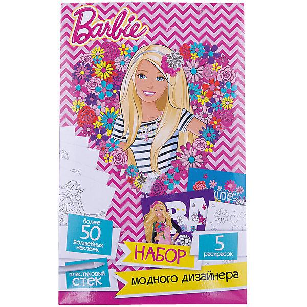Набор модного дизайнера BarbieBarbie<br>Набор модного дизайнера Barbie (Барби).<br><br>Характеристики:<br><br>- Набор для творчества;<br>- Цвет: голубой.<br><br>Набор модного дизайнера Mattel Barbie (Барби) с волшебными скретч-наклейками и пластиковым стеком и  картонным дисплеем. В наборе есть все необходимые аксессуары для увлекательного творчества: волшебные скретч-наклейки и пластиковый стек. Чтобы создать красивые картинки нужно всего лишь проявить фантазию и аккуратность! Ребенок с удовольствием будет заниматься с этим набором, а заодно развивать усидчивость, эстетический вкус и координацию движений. Такой набор, безусловно, понравится вашей девочке!<br><br>Набор модного дизайнера Barbie(Барби), можно купить в нашем интернет - магазине.<br>Ширина мм: 275; Глубина мм: 5; Высота мм: 140; Вес г: 100; Возраст от месяцев: 48; Возраст до месяцев: 144; Пол: Женский; Возраст: Детский; SKU: 5390315;