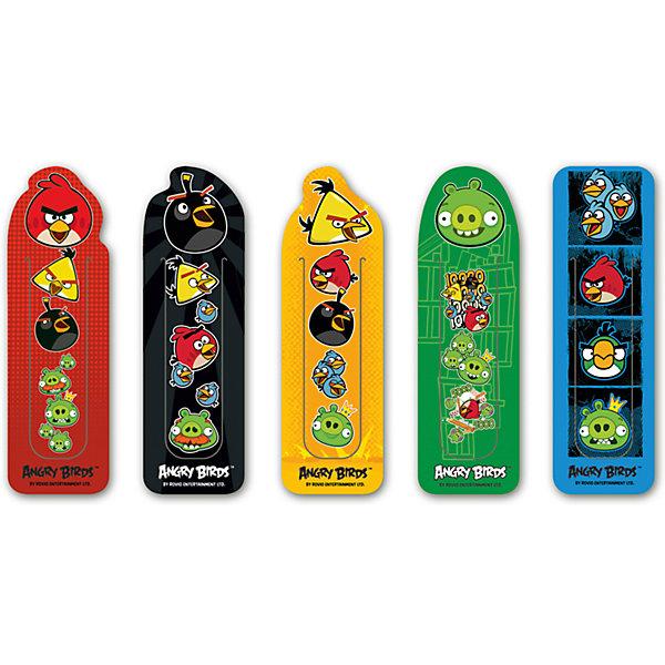 Набор фигурных закладок Angry Birds (5 шт)Angry Birds<br>Набор фигурных закладок Angry Birds (5 шт)<br><br>Характеристики:<br><br>• В комплекте: 5 штук<br>• Вес: 19г<br>• Размер: 260х3х230мм<br><br>Набор фигурных закладок с героями знаменитого мультфильма не оставит ребенка равнодушным. Такие закладки очень удобно фиксируют страницу, на которой остановился ребенок. Также их можно расположить сбоку, тем самым пометив строку, на которой остановили чтение.<br><br>Набор фигурных закладок Angry Birds (5 шт) можно купить в нашем интернет-магазине.<br>Ширина мм: 260; Глубина мм: 3; Высота мм: 230; Вес г: 19; Возраст от месяцев: 48; Возраст до месяцев: 144; Пол: Унисекс; Возраст: Детский; SKU: 5390333;