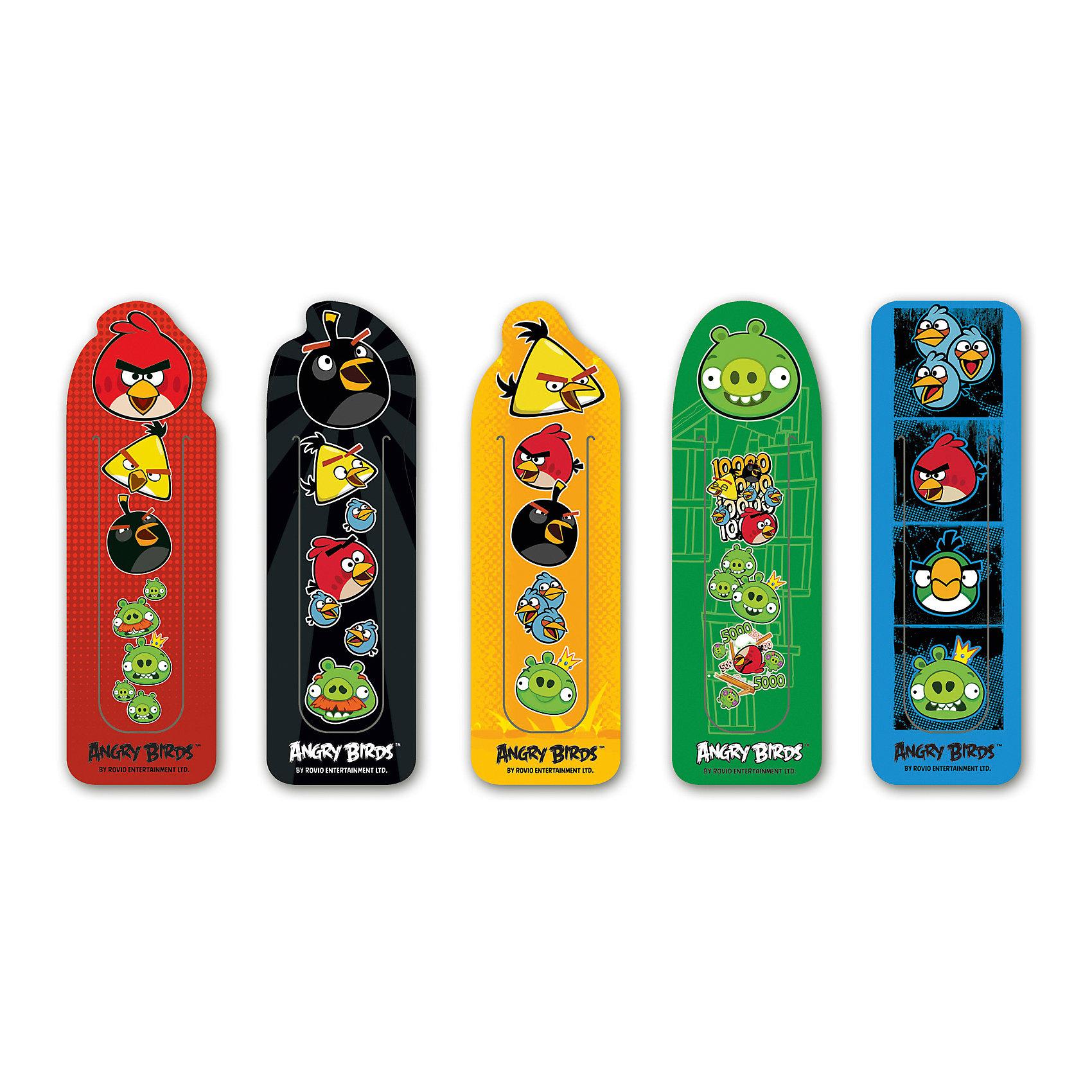 Набор фигурных закладок Angry Birds (5 шт)Angry Birds<br>Набор фигурных закладок Angry Birds (5 шт)<br><br>Характеристики:<br><br>• В комплекте: 5 штук<br>• Вес: 19г<br>• Размер: 260х3х230мм<br><br>Набор фигурных закладок с героями знаменитого мультфильма не оставит ребенка равнодушным. Такие закладки очень удобно фиксируют страницу, на которой остановился ребенок. Также их можно расположить сбоку, тем самым пометив строку, на которой остановили чтение.<br><br>Набор фигурных закладок Angry Birds (5 шт) можно купить в нашем интернет-магазине.<br><br>Ширина мм: 260<br>Глубина мм: 3<br>Высота мм: 230<br>Вес г: 19<br>Возраст от месяцев: 48<br>Возраст до месяцев: 144<br>Пол: Унисекс<br>Возраст: Детский<br>SKU: 5390333