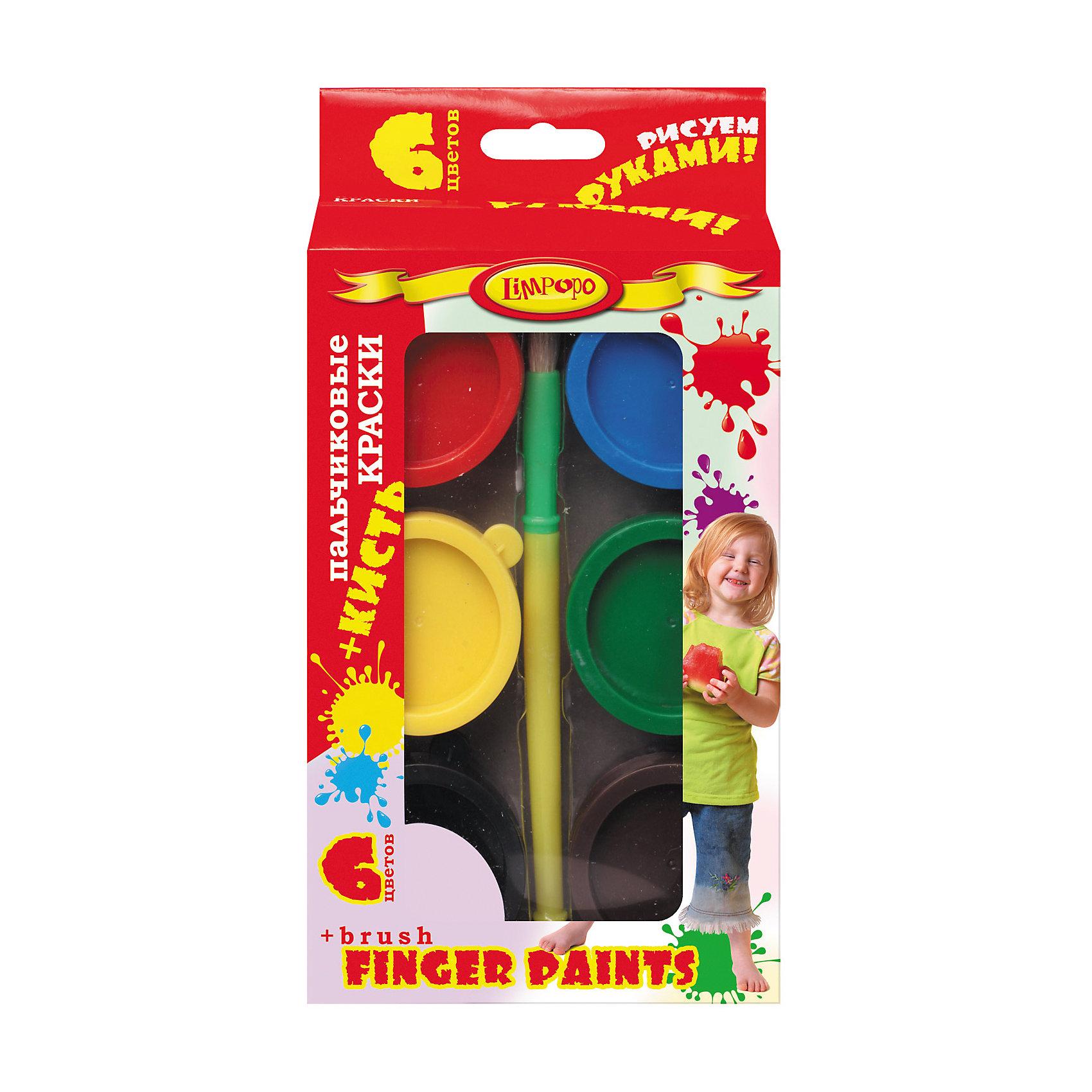 Пальчиковые краски Дети 6 цветов по 25 мл + кистьПальчиковые краски<br>Пальчиковые краски Дети 6 цветов по 25 мл + кисть<br><br>Характеристики:<br><br>• Количество цветов: 6<br>• Объем: по 25мл каждого цвета<br>• В комплекте: краски, кисть<br><br>Пальчиковые краски подойдут для самых маленьких детей, которые только начинают свой путь художника. Малыш сможет нарисовать свои первые картины используя собственные пальчики или кисточку, которая идет в комплекте. 6 ярких, красивых цветов сделают рисунок шедевром. Краски полностью безопасны для нежной кожи малыша.<br><br>Пальчиковые краски Дети 6 цветов по 25 мл + кисть можно купить в нашем интернет-магазине.<br><br>Ширина мм: 125<br>Глубина мм: 35<br>Высота мм: 240<br>Вес г: 239<br>Возраст от месяцев: 36<br>Возраст до месяцев: 96<br>Пол: Унисекс<br>Возраст: Детский<br>SKU: 5390335
