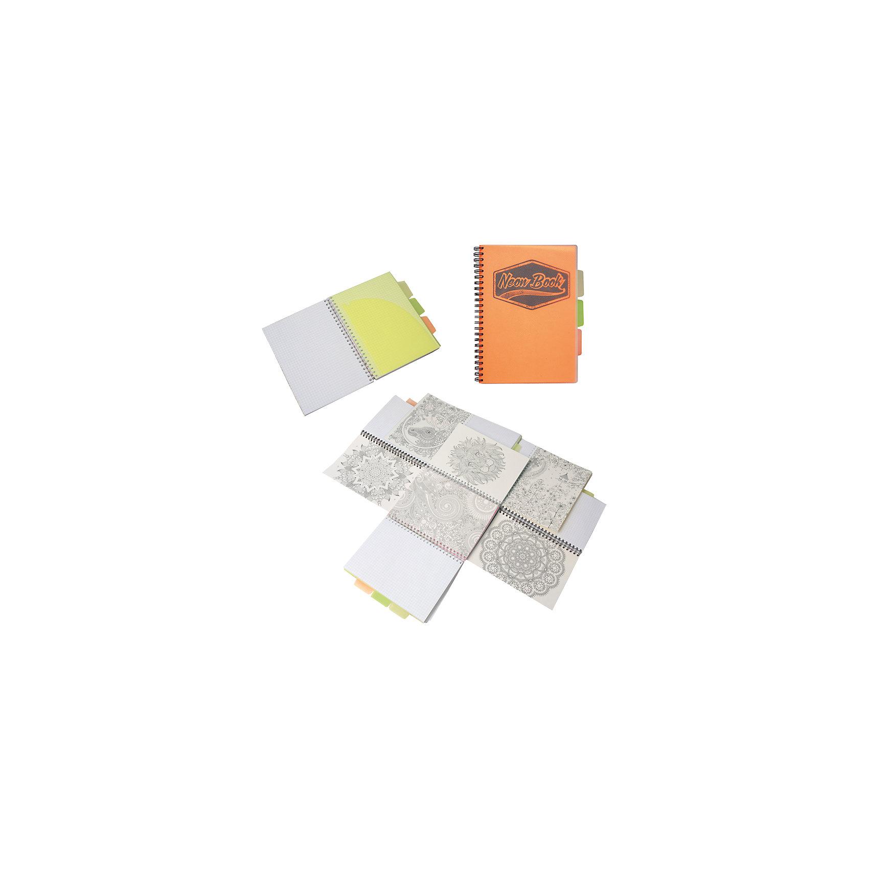 Оранжевая тетрадь А5 Neon book 120 листовОранжевая тетрадь А5 Neon book 120 листов<br><br>Характеристики:<br><br>• Количество листов: 120<br>• Формат: А5<br>• Цвет: оранжевый<br>• Вес: 287г<br>• Размер: 203х15х168мм<br>• Тип: в клеточку, три разделителя<br><br>Большая общая тетрадь с тремя цветными разделителями идеально подойдет для дополнительных занятий или школьных уроков, где необходимо несколько тетрадей. Пластиковая обложка надежно защищает листы от попадания влаги. Крепление на гребне очень удобное и делает тетрадь компактной.<br><br>Оранжевую тетрадь А5 Neon book 120 листов можно купить в нашем интернет-магазине.<br><br>Ширина мм: 203<br>Глубина мм: 15<br>Высота мм: 168<br>Вес г: 287<br>Возраст от месяцев: 84<br>Возраст до месяцев: 360<br>Пол: Унисекс<br>Возраст: Детский<br>SKU: 5390351