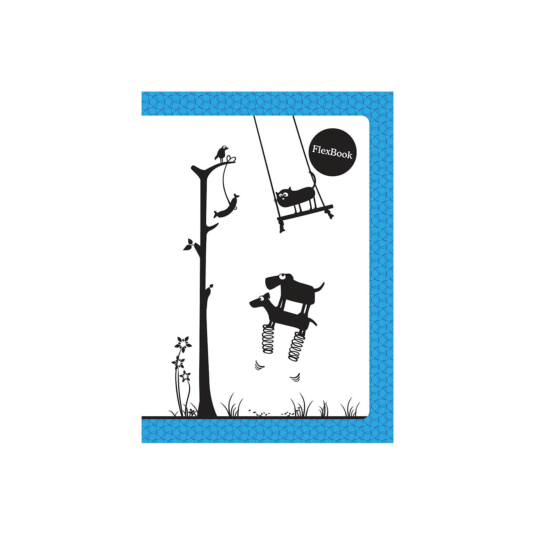 Голубая тетрадь А5 Flex book 80 листовБумажная продукция<br>Голубая тетрадь А5 Flex book 80 листов<br><br>Характеристики:<br><br>• Количество листов: 80<br>• Формат: А5<br>• Цвет: голубая<br>• Вес: 184г<br>• Размер: 210х7х145мм<br><br>Тетрадь изготовлена по технологии Seihon: креплением тетради служит склейка с добавлением специального клея. Дополнительную прочность такого крепления гарантирует ПВХ корешок, который расположен вертикально на корешке каждой тетради.<br>Такое крепление позволяет тетради:<br>- разворачиваться на 360о<br>- сгибаться и складываться, не ломаясь<br>Такая тетрадь-трансформер будет удобной для всех. В такой тетради можно писать даже навесу. А еще – она будет великолепно подходить для левшей, так как ни спираль, ни скрепка не будут в этом случае мешать письму.<br>Мелованная обложка с полноцветной печатью и блок из белой бумаги плотностью 60г/м2. Тетрадь упакована в полиэтиленовый пакет.<br><br>Ширина мм: 210<br>Глубина мм: 7<br>Высота мм: 145<br>Вес г: 184<br>Возраст от месяцев: 84<br>Возраст до месяцев: 360<br>Пол: Унисекс<br>Возраст: Детский<br>SKU: 5390355
