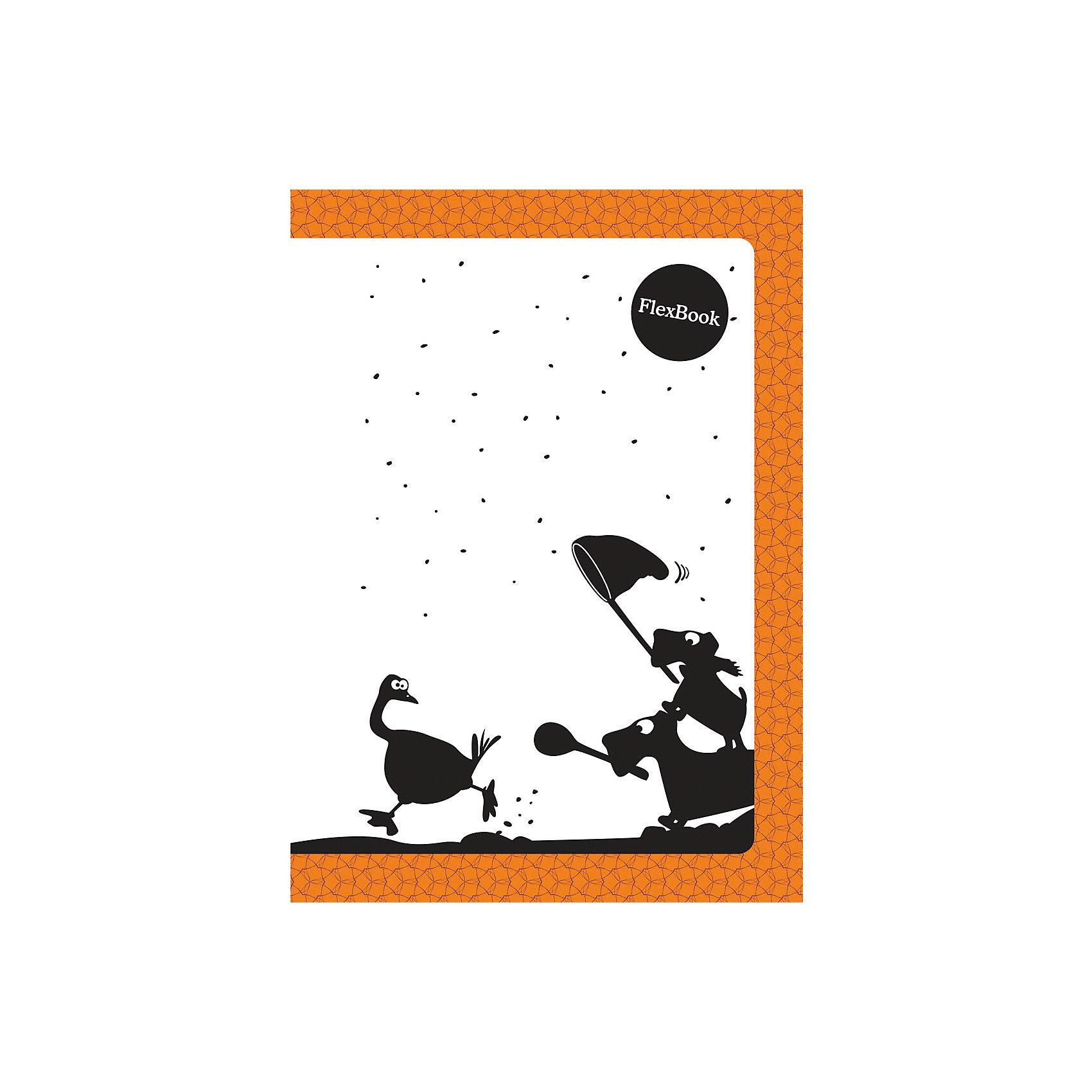 Оранжевая тетрадь А5 Flex book 80 листовБумажная продукция<br>Оранжевая тетрадь А5 Flex book 80 листов<br><br>Характеристики:<br><br>• Количество листов: 80<br>• Формат: А5<br>• Цвет: оранжевая<br>• Вес: 184г<br>• Размер: 210х7х145мм<br><br>Тетрадь изготовлена по технологии Seihon: креплением тетради служит склейка с добавлением специального клея. Дополнительную прочность такого крепления гарантирует ПВХ корешок, который расположен вертикально на корешке каждой тетради.<br>Такое крепление позволяет тетради:<br>- разворачиваться на 360о<br>- сгибаться и складываться, не ломаясь<br>Такая тетрадь-трансформер будет удобной для всех. В такой тетради можно писать даже навесу. А еще – она будет великолепно подходить для левшей, так как ни спираль, ни скрепка не будут в этом случае мешать письму.<br>Мелованная обложка с полноцветной печатью и блок из белой бумаги плотностью 60г/м2. Тетрадь упакована в полиэтиленовый пакет.<br><br>Ширина мм: 210<br>Глубина мм: 5<br>Высота мм: 145<br>Вес г: 144<br>Возраст от месяцев: 84<br>Возраст до месяцев: 360<br>Пол: Унисекс<br>Возраст: Детский<br>SKU: 5390358