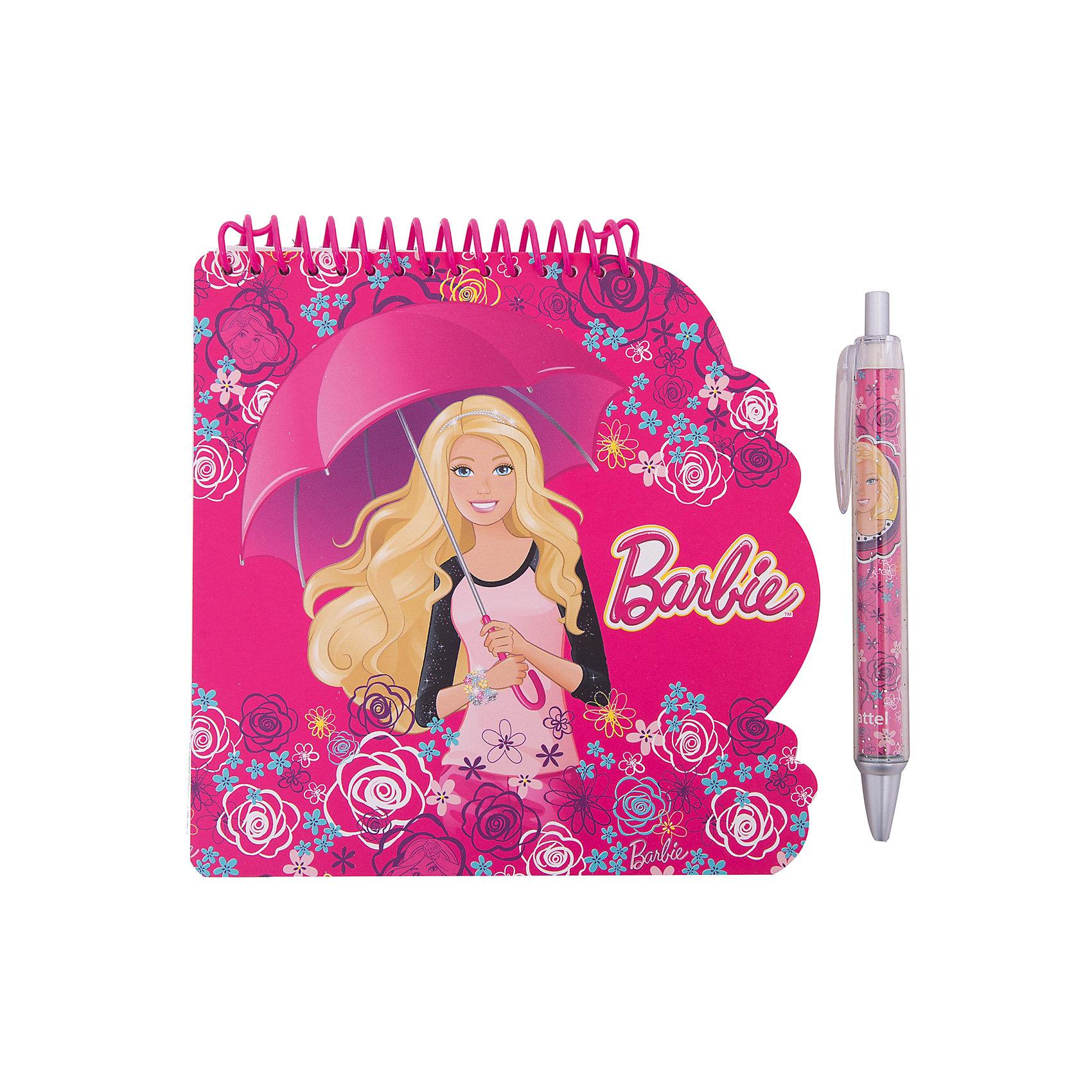 Блокнот А6 Barbie 40 листов + ручкаБлокнот А6 Barbie 40 листов + ручка<br><br>Характеристики:<br><br>• Количество листов: 40 листов<br>• Крепление: спираль<br>• Обложка: мелованный картон<br>• Размер: 218х12х388мм<br>• Вес: 112г<br>• Формат: А6<br>• В комплекте: блокнот, ручка<br><br>Блокнот удобного формата А6 с изображением популярного мультфильма порадует любую девочку. Блокнот сделан из качественной бумаги, с яркой обложкой из мелованного картона и с безопасным креплением на спирали. В комплекте идет ручка с оригинальным дизайном и красивая подарочная упаковка. Такой набор идеально подойдет для подарка.<br><br>Блокнот А6 Barbie 40 листов + ручка можно купить в нашем интернет-магазине.<br><br>Ширина мм: 218<br>Глубина мм: 12<br>Высота мм: 388<br>Вес г: 112<br>Возраст от месяцев: 36<br>Возраст до месяцев: 144<br>Пол: Женский<br>Возраст: Детский<br>SKU: 5390368