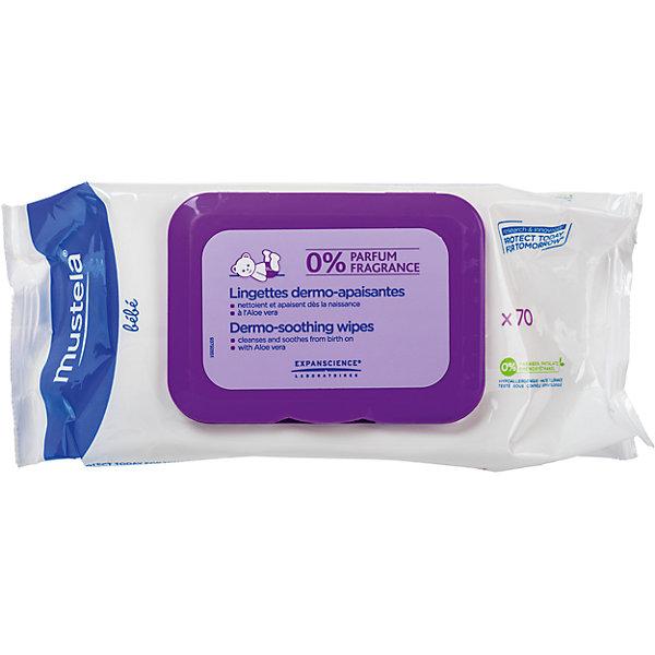 Салфетки для мягкого очищения без запаха, №70, Mustela