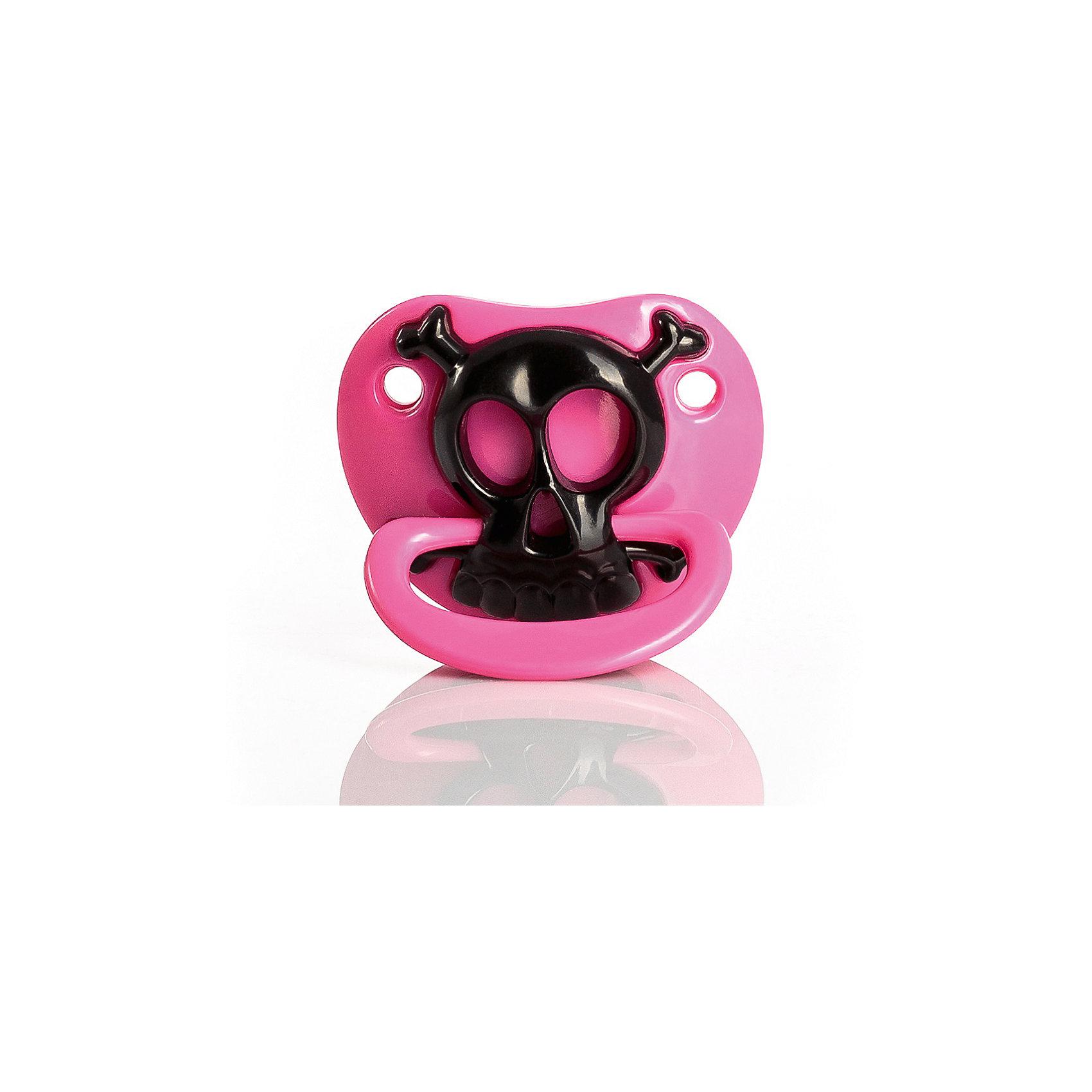 Забавная пустышка Розовый череп, Billy-BobПустышки и аксессуары<br>Забавная пустышка Розовый череп, Billy-Bob (Билли-Боб).<br><br>Характеристики:<br><br>- Материал: силикон, пластик<br>- Возраст: от 0 мес<br>- Форма: ортодонтическая<br>- Без фталатов и BPA<br><br>Весёлая пустышка Розовый череп от Billy-Bob (Билли-Боб) создана специально для вашей малышки. Это отличное решение для любой вечеринки. С этой яркой забавной пустышкой ваша малышка не останется незамеченной и всегда будет в центре внимания. Пустышка имеет форму соски Nuk, способствующую здоровому развитию челюсти. Ортодонтическая форма пустышки обеспечивает формирование правильного прикуса и челюстно-лицевого аппарата в целом. С пустышкой Розовый череп от Billy-Bob (Билли-Боб) процесс перехода от грудного вскармливания будет безболезненным для вашего ребенка. Она удовлетворяет естественный сосательный рефлекс и тренирует мышцы губ, языка и челюсти, что играет важную роль в развитии навыков приема пищи и речевых навыков. Изделие изготовлено из безопасных, нетоксичных материалов. Соответствует всемирным требованиям к пустышкам и соскам 16 CFR 1511 и BS EN 1400.<br><br>Забавную пустышку Розовый череп, Billy-Bob (Билли-Боб) можно купить в нашем интернет-магазине.<br><br>Ширина мм: 80<br>Глубина мм: 45<br>Высота мм: 165<br>Вес г: 34<br>Возраст от месяцев: 0<br>Возраст до месяцев: 12<br>Пол: Женский<br>Возраст: Детский<br>SKU: 5392929