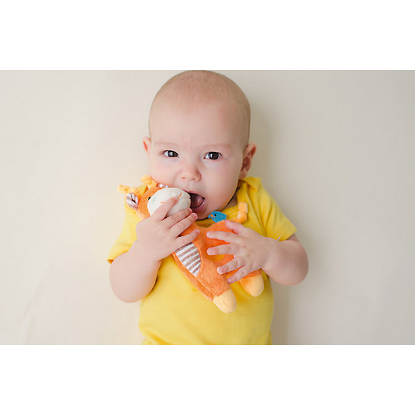 Погремушка Жираф, Zoocchini, оранжевыйИгрушки для новорожденных<br>Погремушка Жираф, Zoocchini, оранжевый.<br><br>Характеристики:<br><br>- Материал: полиэстер<br>- Цвет: оранжевый<br>- Высота игрушки: 17,5 см.<br><br>Мягкая, приятная на ощупь погремушка в виде забавного жирафа заставит вашего ребёнка улыбаться! Яркий цвет, приятный звук погремушки будут способствовать развитию слухового и цветового восприятия, мелкой моторики рук и концентрации внимания малыша. Погремушка Жираф составит прекрасную пару одеялу с игрушкой Zoocchini.<br><br>Погремушку Жираф, Zoocchini, оранжевую можно купить в нашем интернет-магазине.<br><br>Ширина мм: 120<br>Глубина мм: 75<br>Высота мм: 205<br>Вес г: 72<br>Возраст от месяцев: 0<br>Возраст до месяцев: 12<br>Пол: Унисекс<br>Возраст: Детский<br>SKU: 5392936