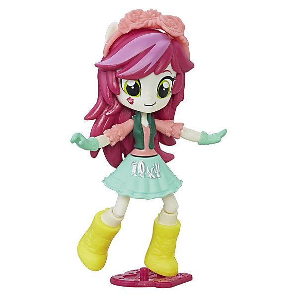 Мини-кукла Equestria Girls, РоузлакКуклы<br>Характеристики:<br><br>• возраст: 5+;<br>• материал: пластик;<br>• в комплекте: мини-кукла, подставка, аксессуар;<br>• размер игрушки: 12 см;<br>• количество шарниров: 9 шт.;<br>• габариты упаковки: 13х19х6 см.<br><br>Необычная куколка из серии «Эквестрия гелз» - героиня популярного мультсериала «My little Pony» по имени Роузлак. Она очень любит петь и заниматься садоводством. Героиня появляется в мультфильме довольно редко и не входит в состав главных, но фанатки ее любят за яркую внешность и красивый наряд.<br><br>Ярко-розовые волосы Роузлак украшены ободком. Одета кукла в блузку, бирюзовую юбку и перчатки в тон одежде. На ножках у нее желтые сапожки.<br><br>Мини-кукла очень подвижна, благодаря встроенным шарнирам. В комплект входит удобная подставка, на которой кукла устойчиво закрепляется.<br><br>Игрушка выполнена из высококачественного пластика.<br><br>Фигурка Роузлак – хороший подарок к празднику для маленьких девочек. Собрав всю коллекцию мини-кукол можно устраивать ролевые игры по мотивам мультсериала вместе с подружками.<br><br>Мини-куклу «Роузлак Эквестрия герлз» C0839/C2182, Hasbro, My little Pony можно приобрести в нашем интернет-магазине.<br>Ширина мм: 62; Глубина мм: 127; Высота мм: 190; Вес г: 148; Возраст от месяцев: 60; Возраст до месяцев: 144; Пол: Женский; Возраст: Детский; SKU: 5395767;