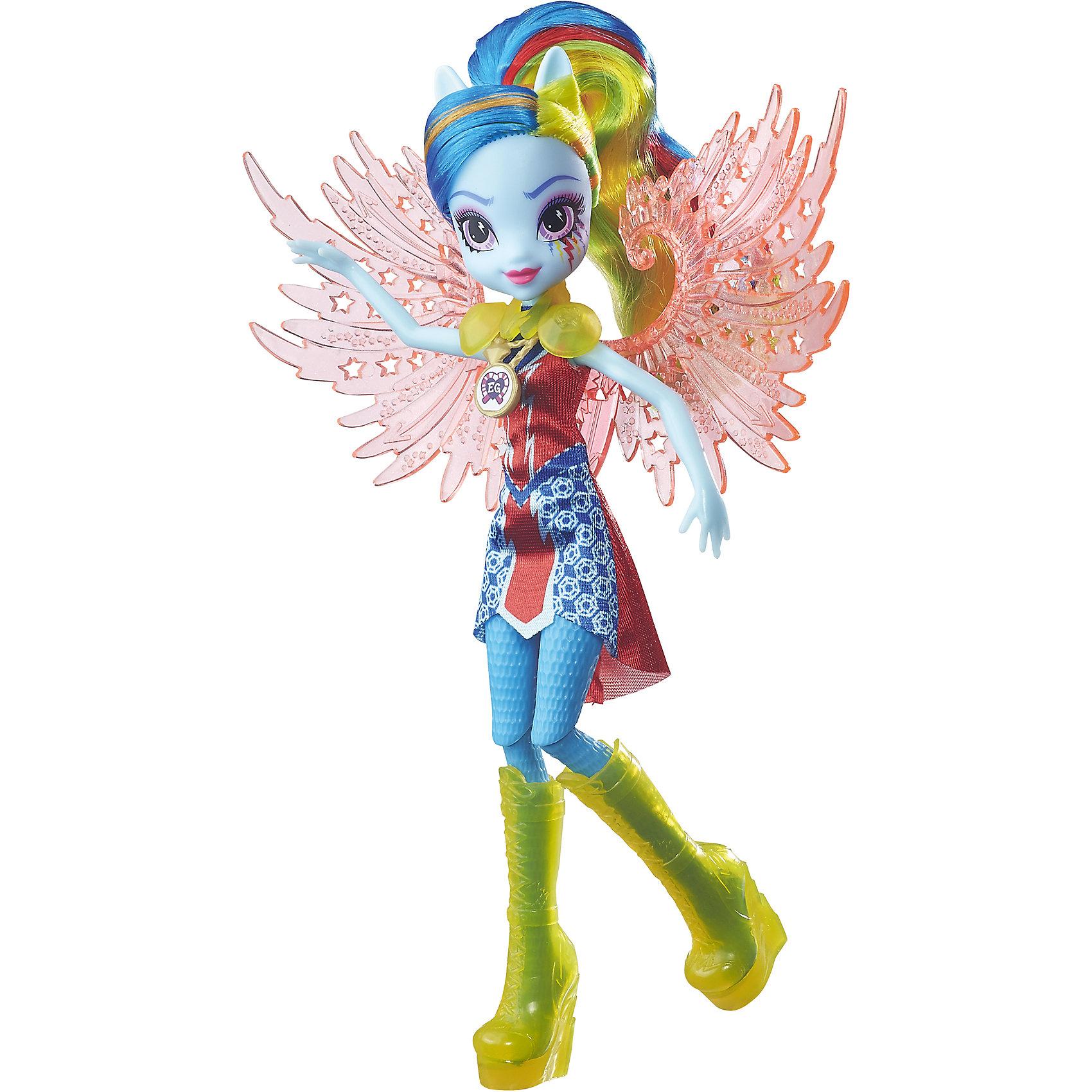 Кукла Эквестрия Герлз Легенды вечнозеленого леса Crystal Wings - Рейнбоу ДэшКуклы-модели<br>Кукла делюкс Легенда Вечнозеленого леса, с аксессуарами, Эквестрия герлз (Equestria Girls), B6479/B7533. <br><br>Характеристика: <br><br>• Материал: пластик. <br>• Размер куклы: 22 см. <br>• В комплекте кукла в одежде и обуви. <br>• Отличная детализация. <br>• Голова, руки, ноги подвижные (9 точек артикуляции). <br>• Реалистичные позы. <br>• Специальный код, с помощью которого можно разблокировать новые наряды и аксессуары в мобильном приложения MY LITTLE PONY EQUESTRIA GIRLS.<br><br>Очаровательные девочки Эквестрии приведут в восторг всех поклонниц My little Pony (Май литл Пони)! Красавица Радуга Дэш имеет нежно-голубую кожу и ярко-голубые волосы с разноцветными прядями, из них получится множество удивительных причесок. Стильная обувь, аксессуары и оригинальный наряд с прозрачными крыльями делают девочку просто неотразимой! Множество точек артикуляции и отличная детализация делают игры с куклой еще увлекательнее и интереснее. <br><br>Собери всех кукол коллекции, проигрывай любимые сюжеты, придумывай свои новые истории или устрой веселую вечеринку в стиле My little Pony (Моя маленькая Пони). <br><br>Куклу делюкс Легенда Вечнозеленого леса, с аксессуарами, Эквестрия герлз (Equestria Girls), B6479/B7533, можно купить в нашем интернет-магазине.<br><br>Ширина мм: 50<br>Глубина мм: 190<br>Высота мм: 305<br>Вес г: 290<br>Возраст от месяцев: 60<br>Возраст до месяцев: 144<br>Пол: Женский<br>Возраст: Детский<br>SKU: 5395773