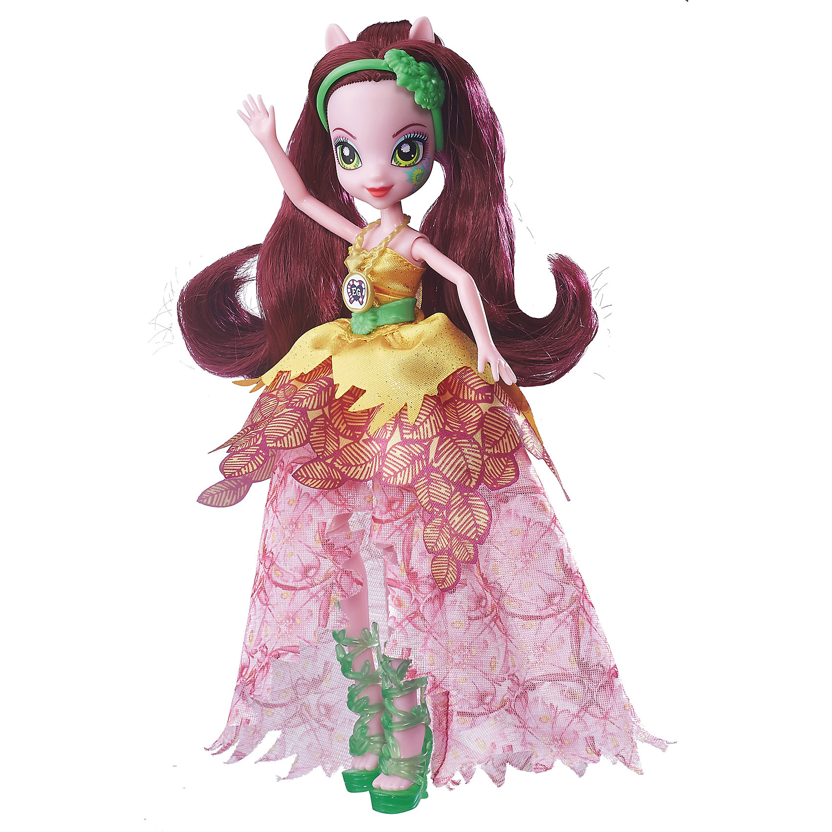 Кукла Эквестрия Герлз Легенды вечнозеленого леса Crystal Gala - ГлориозаКуклы-модели<br>Кукла делюкс Легенда Вечнозеленого леса, с аксессуарами, Эквестрия герлз (Equestria Girls), B6478/B7530.<br><br>Характеристика: <br><br>• Материал: пластик. <br>• Размер куклы: 22 см. <br>• В комплекте кукла в одежде, обувь, аксессуары. <br>• Отличная детализация. <br>• Голова, руки, ноги подвижные (9 точек артикуляции). <br>• Реалистичные позы. <br>• Специальный код, с помощью которого можно разблокировать новые наряды и аксессуары в мобильном приложения MY LITTLE PONY EQUESTRIA GIRLS.<br><br>Очаровательные девочки Эквестрии приведут в восторг всех поклонниц My little Pony (Май литл Пони)! Глориоза одета в прекрасное платье с пышной летящей юбкой и блестящим лифом. Сногсшибательный образ дополняют стильные босоножки и ободок. Длинные волосы юной волшебницы мягкие и послушные - из них получится множество удивительных причесок. Девять точек артикуляции и отличная детализация делают игры с куклами еще увлекательнее и интереснее. <br><br>Собери всех кукол коллекции, проигрывай любимые сюжеты, придумывай свои новые истории или устрой настоящую вечеринку в стиле My little Pony (Моя маленькая Пони). <br><br>Куклу делюкс Легенда Вечнозеленого леса, с аксессуарами, Эквестрия герлз (Equestria Girls), B6478/B7530, можно купить в нашем интернет-магазине.<br><br>Ширина мм: 50<br>Глубина мм: 190<br>Высота мм: 337<br>Вес г: 271<br>Возраст от месяцев: 60<br>Возраст до месяцев: 144<br>Пол: Женский<br>Возраст: Детский<br>SKU: 5395777