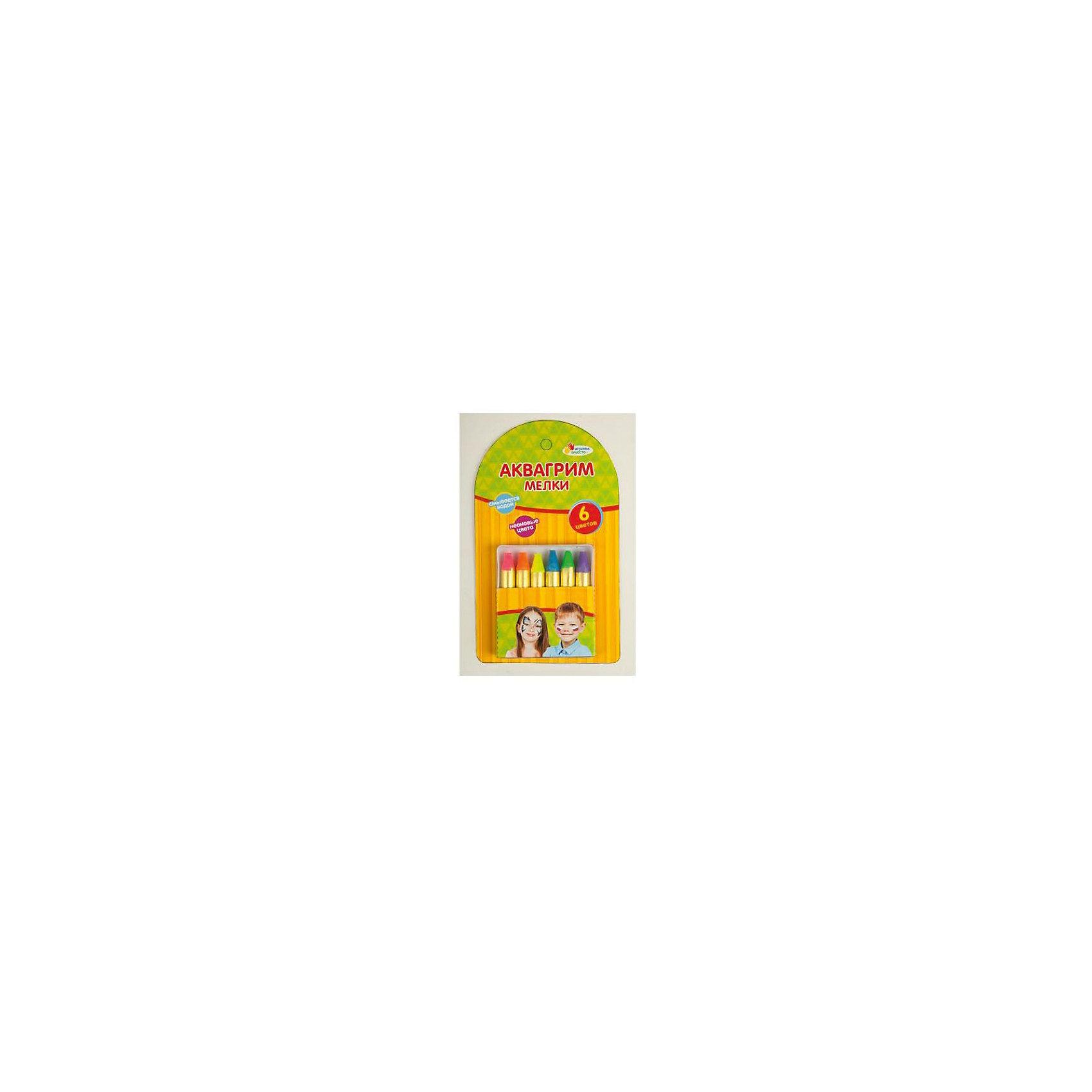 Аквагрим мелки Multiart 6 цветов (неоновые цвета)Косметика, грим и парфюмерия<br>Мелки MULTIART Аквагрим  6  неоновых цветов (фиолетовый, розовый, синий, оранжевый, зеленый, желтый)  Легко смывается водой. Изготовлен из высококачественных гипоаллергенных материалов<br><br>Ширина мм: 20<br>Глубина мм: 140<br>Высота мм: 80<br>Вес г: 40<br>Возраст от месяцев: 36<br>Возраст до месяцев: 84<br>Пол: Унисекс<br>Возраст: Детский<br>SKU: 5396485