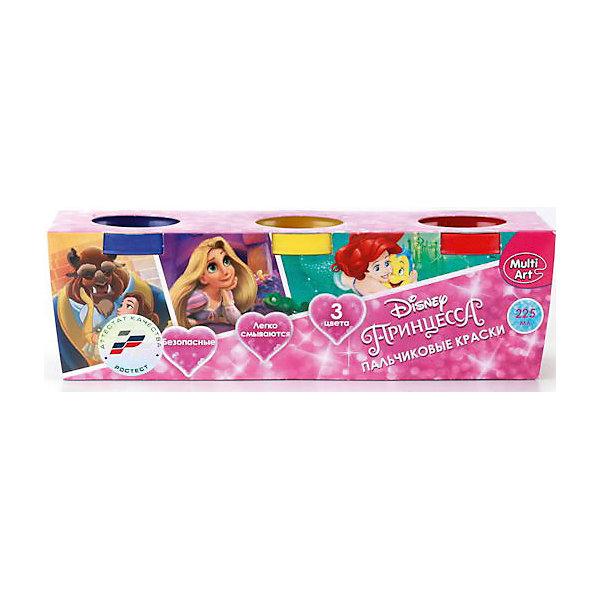 Пальчиковые краски Multiart Disney Принцессы 3штуки по 50мл.Пальчиковые краски<br>Пальчиковые краски MULTIART с изображением любимых Принцесс DISNEY на упаковке. В упаковке 3 цвета по 50 мл. Цвета: красный, желтый, синий. Краски нетоксичны и абсолютно безопасны для детей. Легко отстирываются и смываются водой.<br>Ширина мм: 50; Глубина мм: 60; Высота мм: 160; Вес г: 220; Возраст от месяцев: 12; Возраст до месяцев: 60; Пол: Женский; Возраст: Детский; SKU: 5396499;