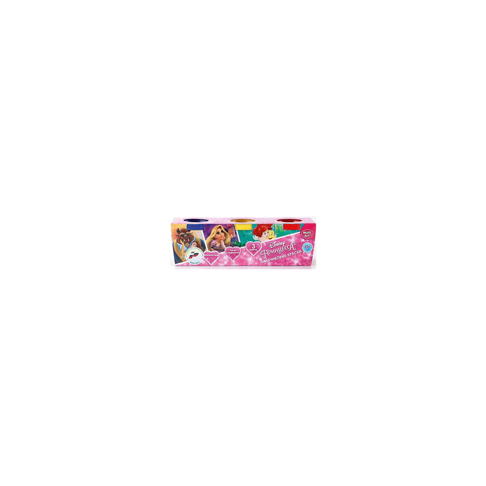Пальчиковые краски Multiart Disney Принцессы 3штуки по 50мл.Пальчиковые краски<br>Пальчиковые краски MULTIART с изображением любимых Принцесс DISNEY на упаковке. В упаковке 3 цвета по 50 мл. Цвета: красный, желтый, синий. Краски нетоксичны и абсолютно безопасны для детей. Легко отстирываются и смываются водой.<br><br>Ширина мм: 50<br>Глубина мм: 60<br>Высота мм: 160<br>Вес г: 220<br>Возраст от месяцев: 12<br>Возраст до месяцев: 60<br>Пол: Женский<br>Возраст: Детский<br>SKU: 5396499