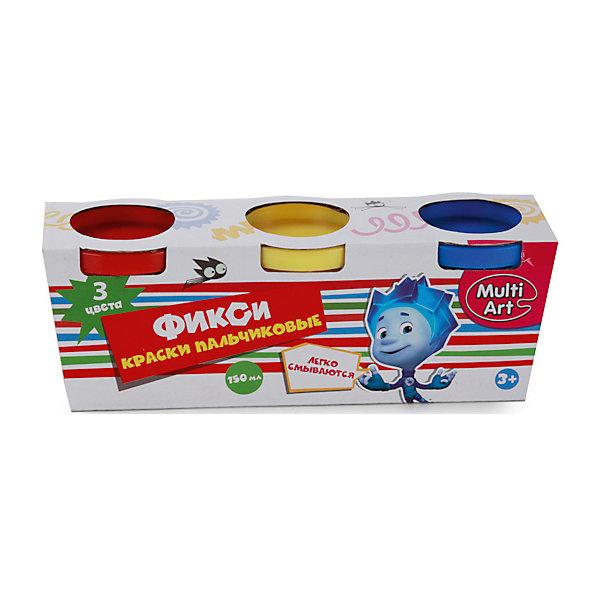 Пальчиковые краски Multiart Фиксики 3штуки по 50мл.Пальчиковые краски<br>Пальчиковые краски MULTIART с изображением популярных героев мульфильма Фиксики на упаковке. В упаковке 3 цвета по 50 мл. Цвета: красный, желтый, синий. Краски нетоксичны и абсолютно безопасны для детей. Легко отстирываются и смываются водой.<br>Ширина мм: 50; Глубина мм: 60; Высота мм: 170; Вес г: 220; Возраст от месяцев: 12; Возраст до месяцев: 60; Пол: Унисекс; Возраст: Детский; SKU: 5396500;