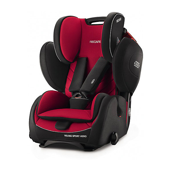 Автокресло RECARO Young Sport HERO 9-36 кг, Racing RedГруппа 1-2-3  (от 9 до 36 кг)<br>Характеристики:<br><br>• группа автокресла: 1/2/3;<br>• вес ребенка: 9-36 кг;<br>• возраст ребенка: от 9 месяцев до 12 лет;<br>• способ крепления: штатными ремнями безопасности автомобиля;<br>• способ установки: лицом по ходу движения автомобиля;<br>• регулируется высота подголовника: 9 положений;<br>• пластиковая ручка для переноски автокресла;<br>• имеются подлокотники, высота не меняется;<br>• 3-х точечные ремни безопасности с мягкими накладками;<br>• анатомический вкладыш;<br>• усиленная боковая защита;<br>• материал: пластик, полиэстер, обивка Recaro Tex (искусственная замша);<br>• размеры автокресла: 52х48х64/82 см;<br>• вес: 8,3 кг.<br><br>Автокресло Young Sport HERO будет сопровождать вас и вашего малыша на каждом этапе роста ребенка, вплоть до 12 лет. Регулируемый подголовник и наличие подлокотников помогают ребенку подобрать оптимальное положение во время поездки. Кресло устанавливается на заднем сидении автомобиля или на переднем (необходимо отключить подушку безопасности).<br><br>Автокресло Young Sport HERO 9-36 кг., Recaro, Racing Red можно купить в нашем интернет-магазине.<br><br>Ширина мм: 520<br>Глубина мм: 640<br>Высота мм: 560<br>Вес г: 8800<br>Возраст от месяцев: 9<br>Возраст до месяцев: 144<br>Пол: Унисекс<br>Возраст: Детский<br>SKU: 5396742
